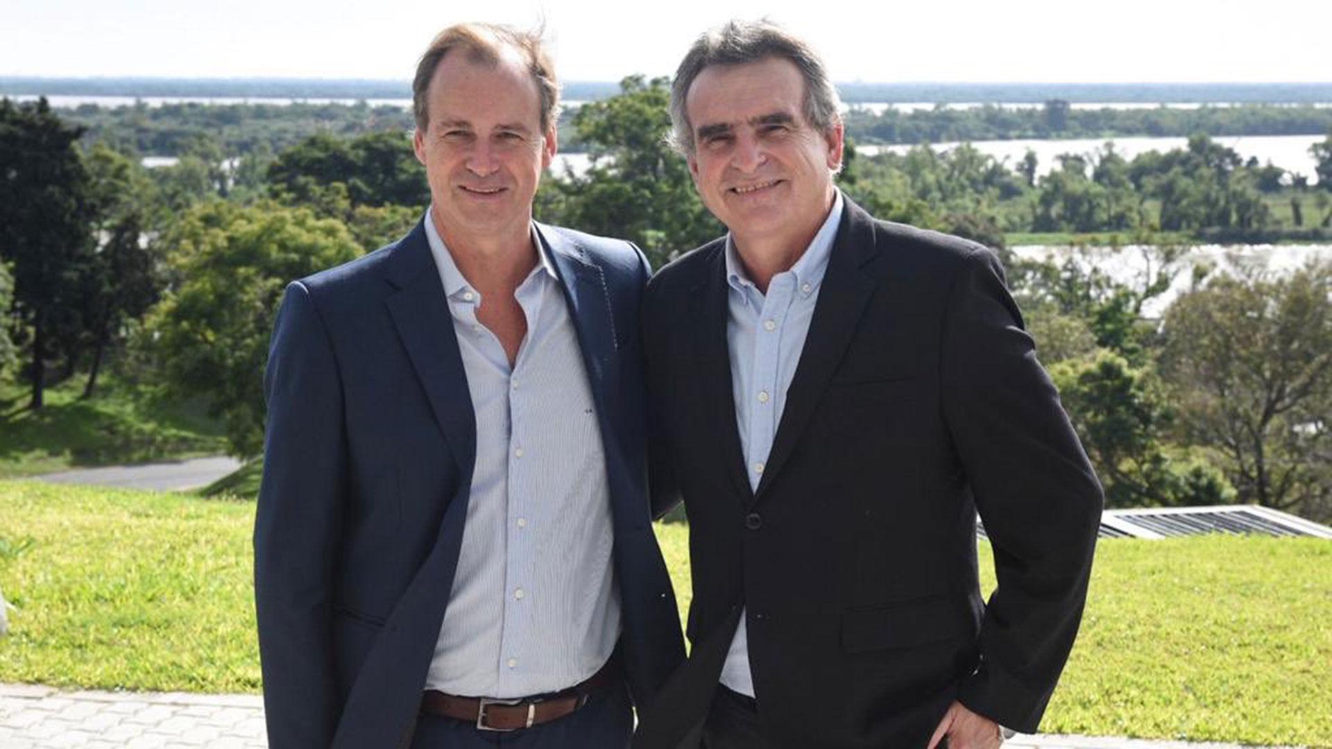 Gustavo Bordet recibió a Agustín Rossi en Entre Ríos