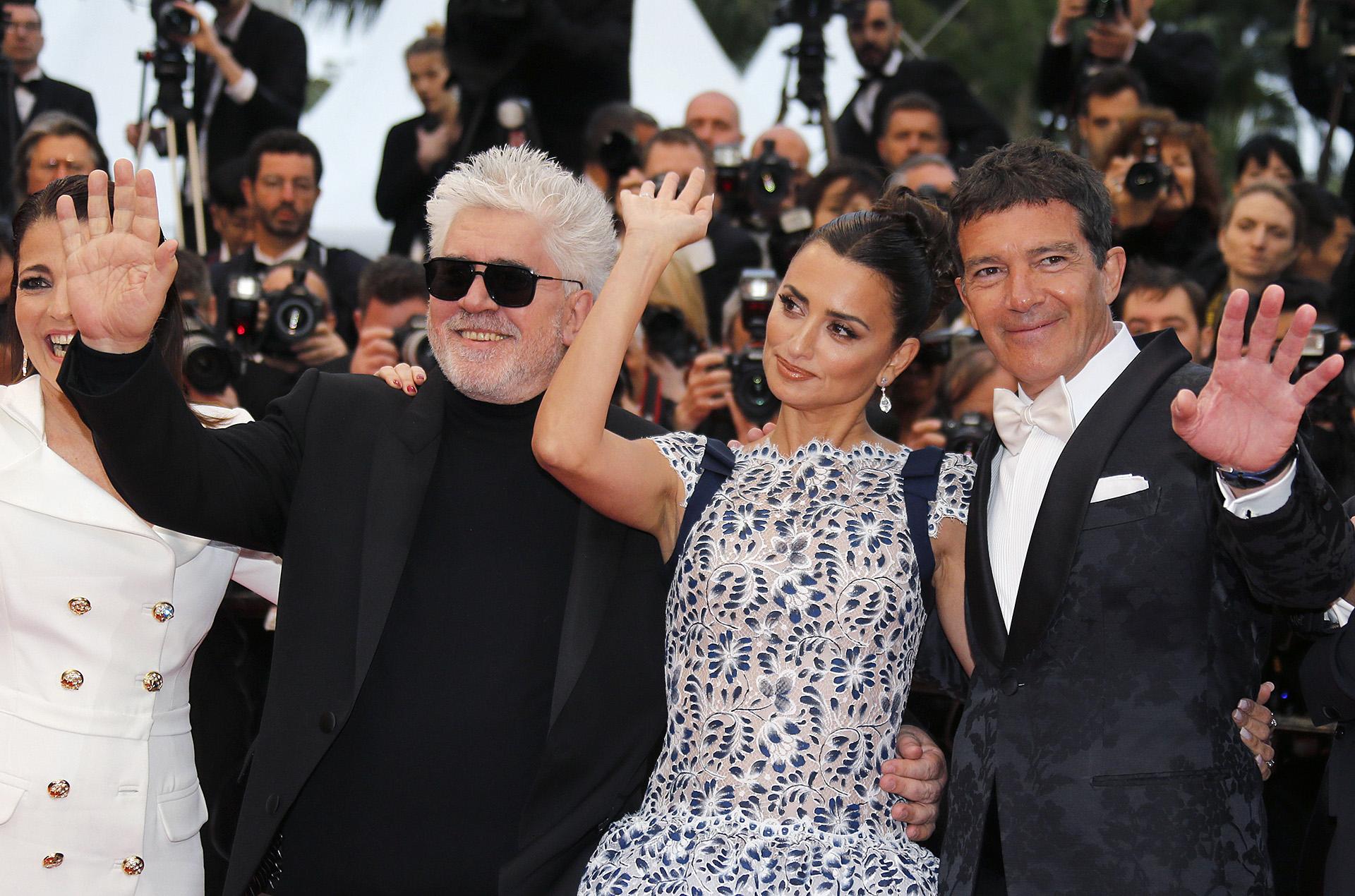 """Por """"Dolor y gloria"""", este poderoso trío español anhela llevarse la codiciada Palma de Oro /// Fotos: Reuters"""