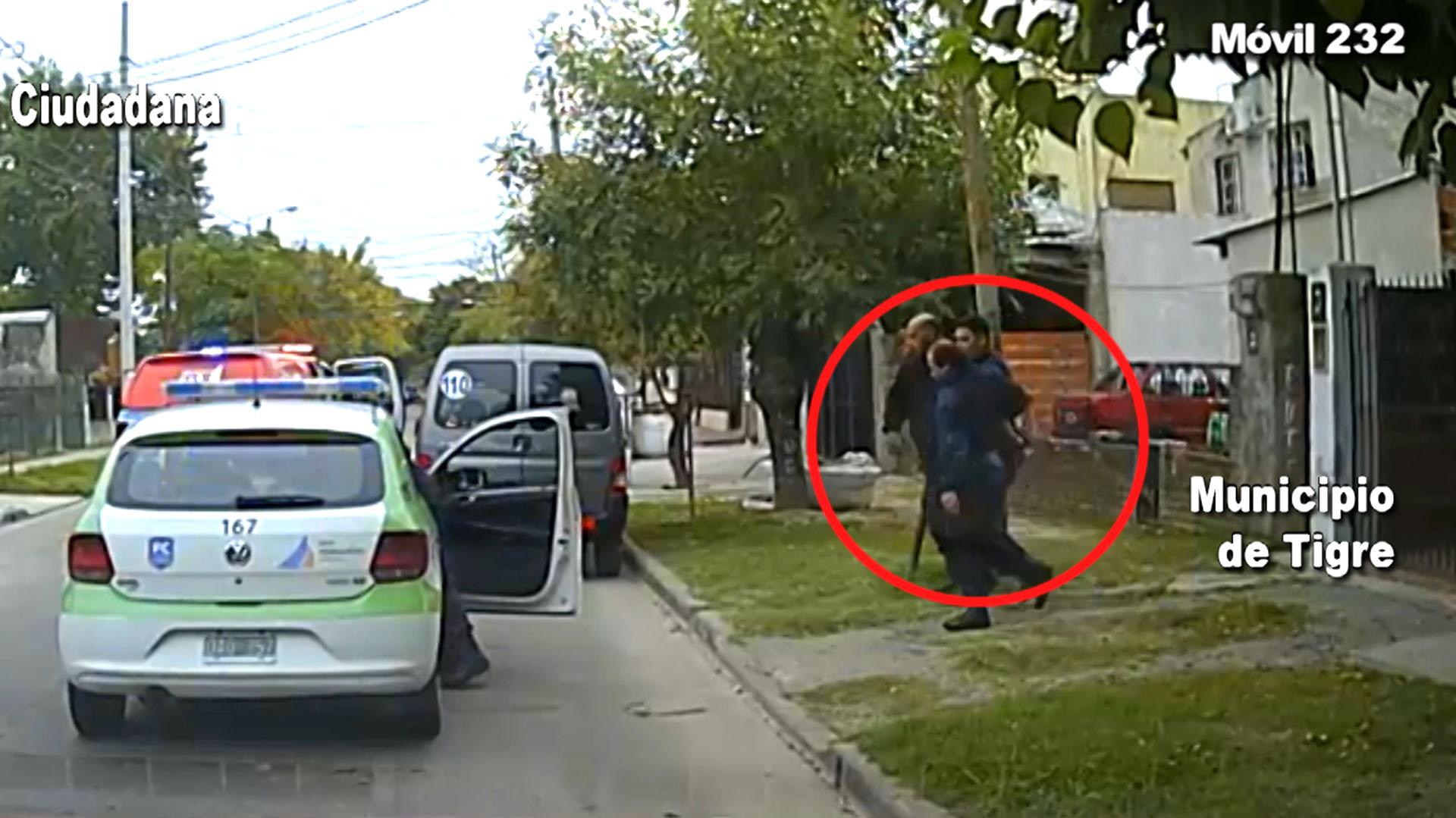 Este es el momento en que fue apresado por la policía de Tigre