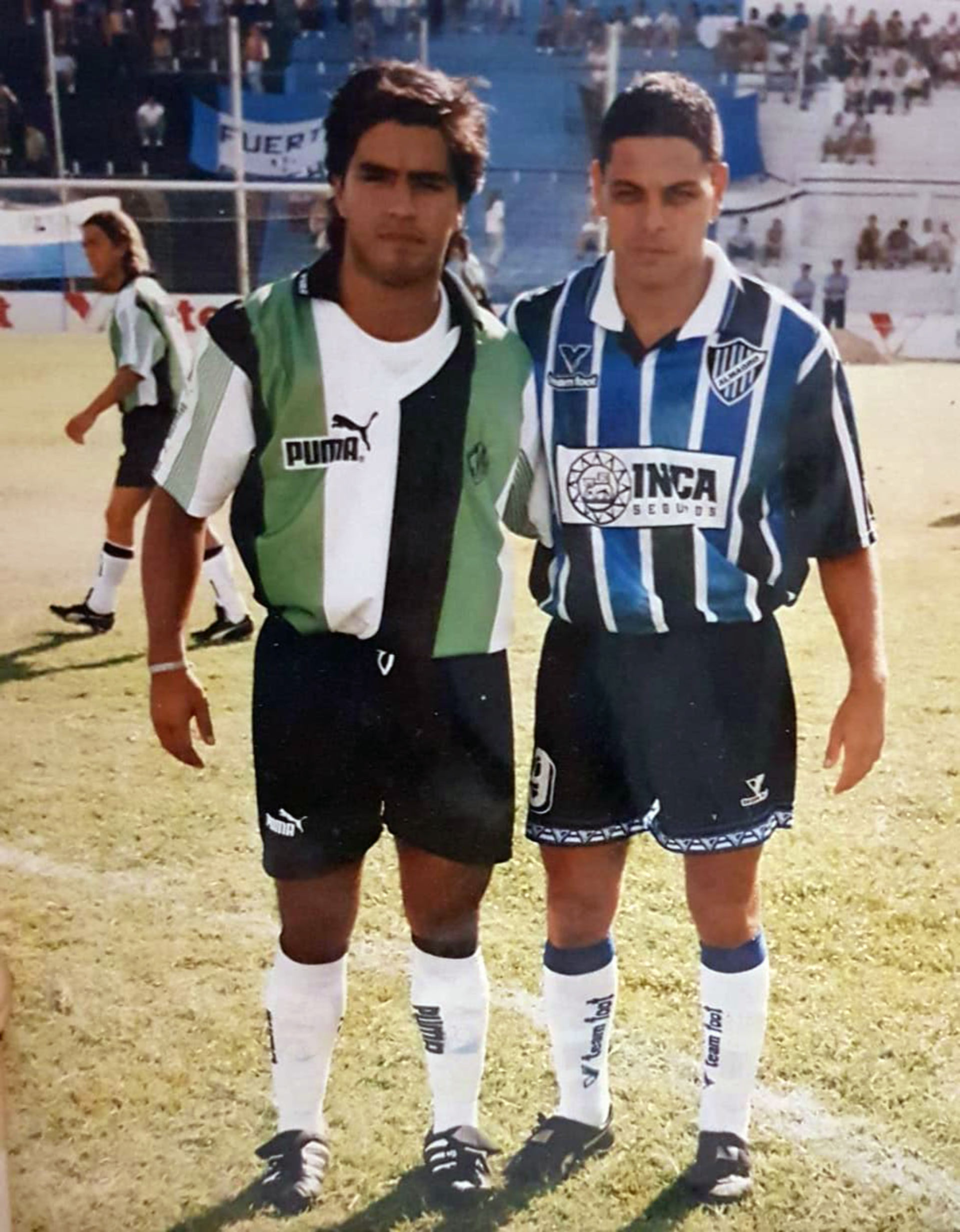 "Marcelo Süller junto a Carlos ""Beto"" Yaquet, ídolo histórico de Almagro"