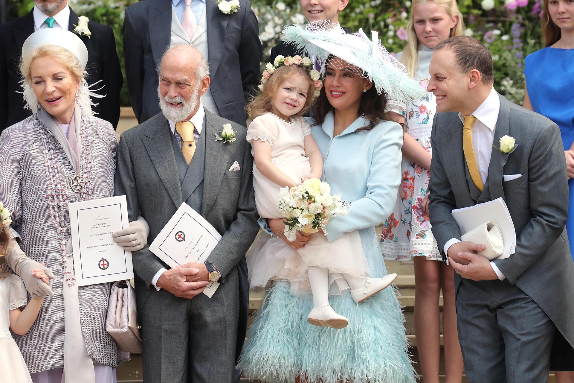 El príncipe Michael de Kent junto a su mujer, Sophie Winkleman y Lord Frederick Windsor, hermano de Lady Gabriella
