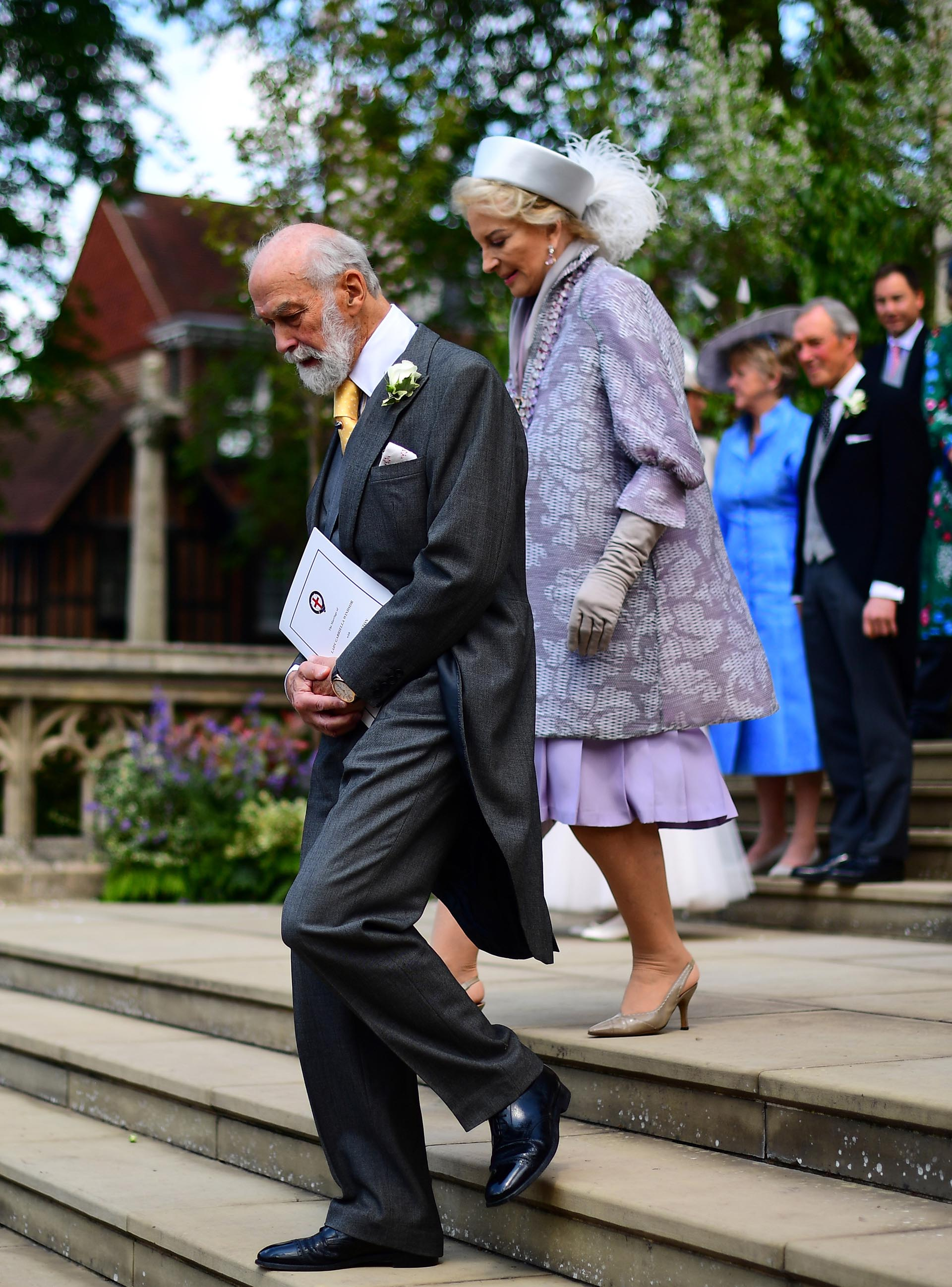 El padre de la novia: el príncipe Michael de Kent, primo hermano de la reina Isabel
