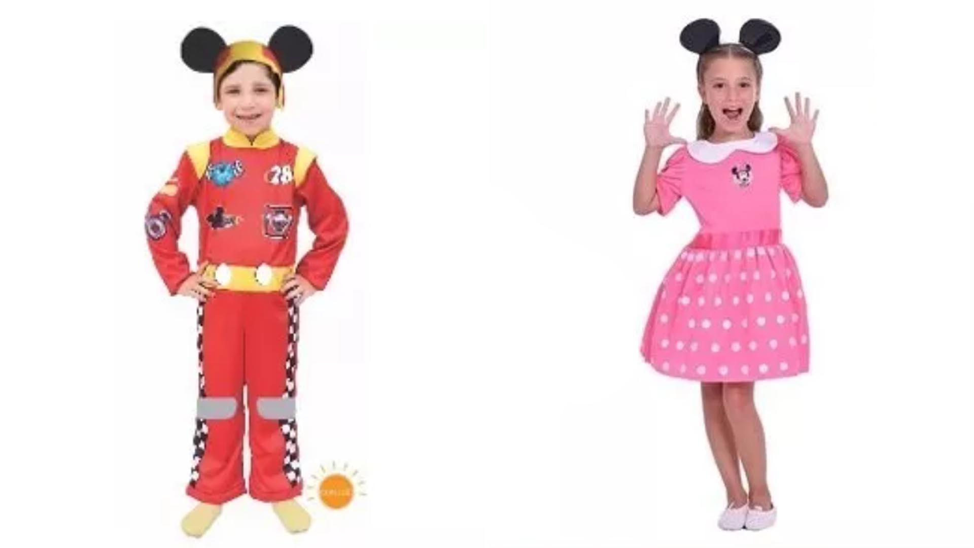 Disfraz con luces de personajes: Mickey $724 vs. Minnie $1.215
