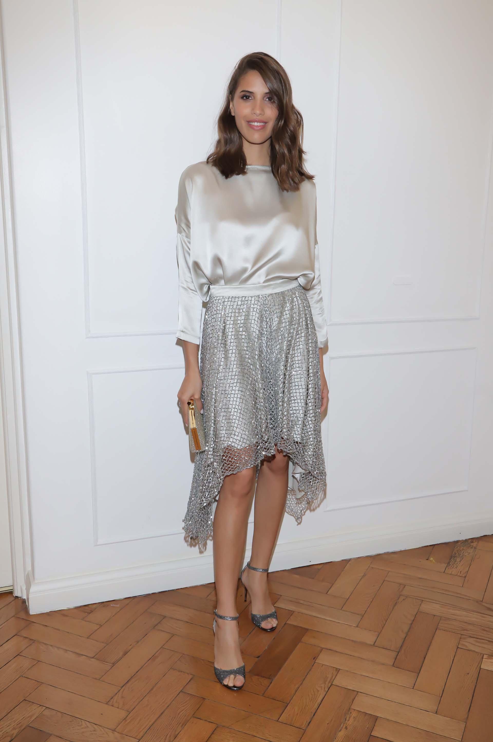 La modelo Taína Ferreira, musa de la marca, también estuvo presente en el cóctel