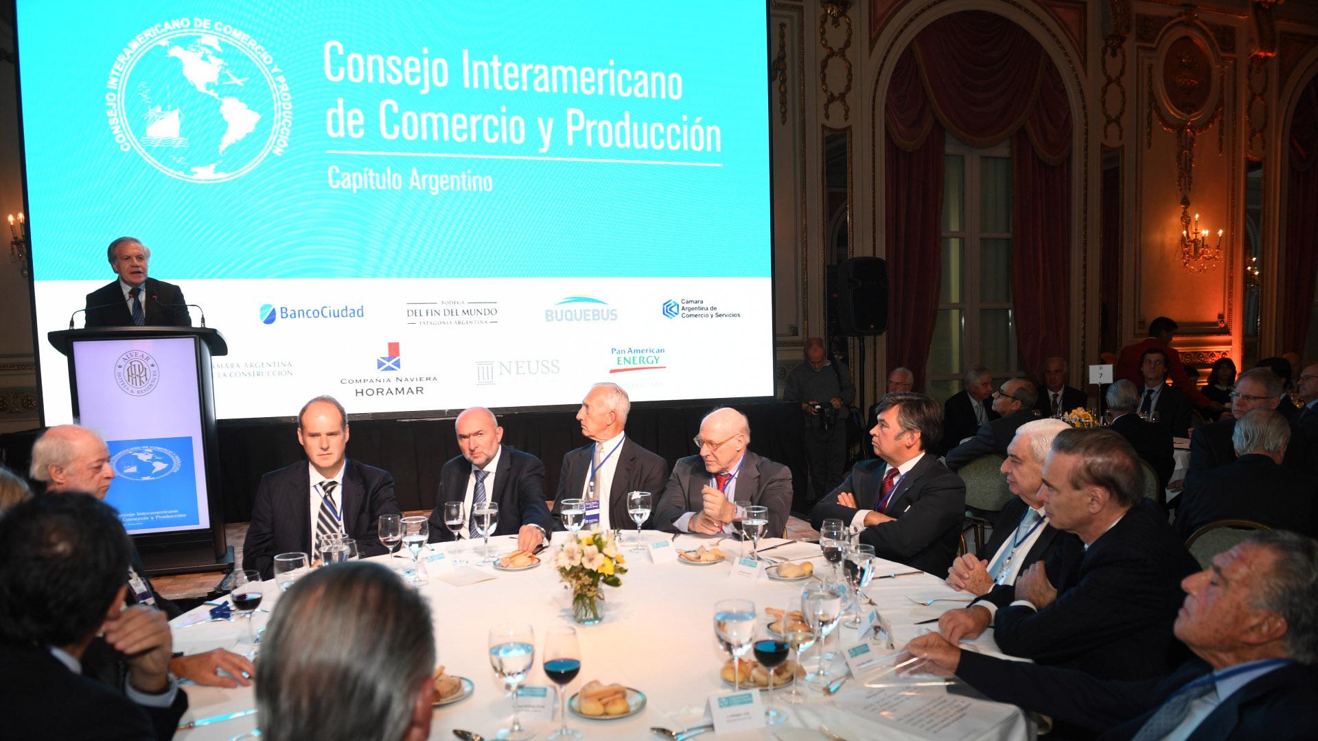 La disertación del secretario general de la OEA