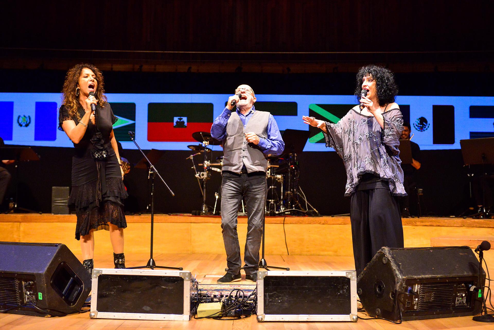 Patricia Sosa, Juan Carlos Baglietto y Julia Zenko
