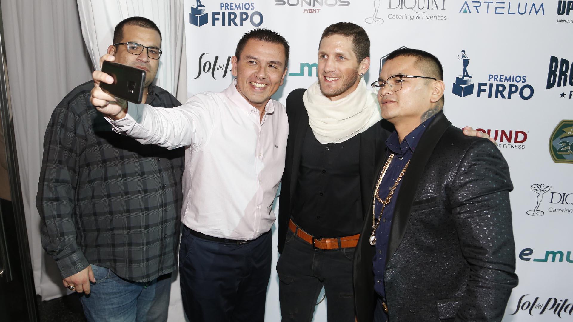 """Marcos Maidana, Martín Coggi, Daniel Santibañez y """"Pileta"""", el primo del """"Chino"""""""