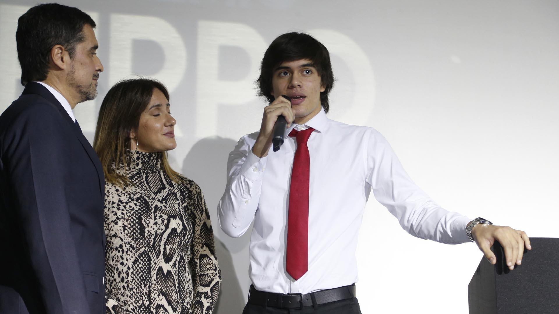 Julieta y Agustín, los nietos de Carlos Monzón
