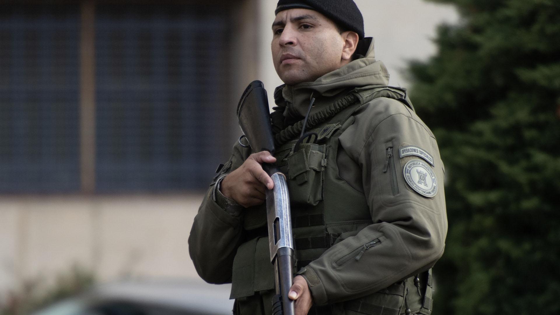 Se montó un importante operativo de seguridad en Comodoro Py