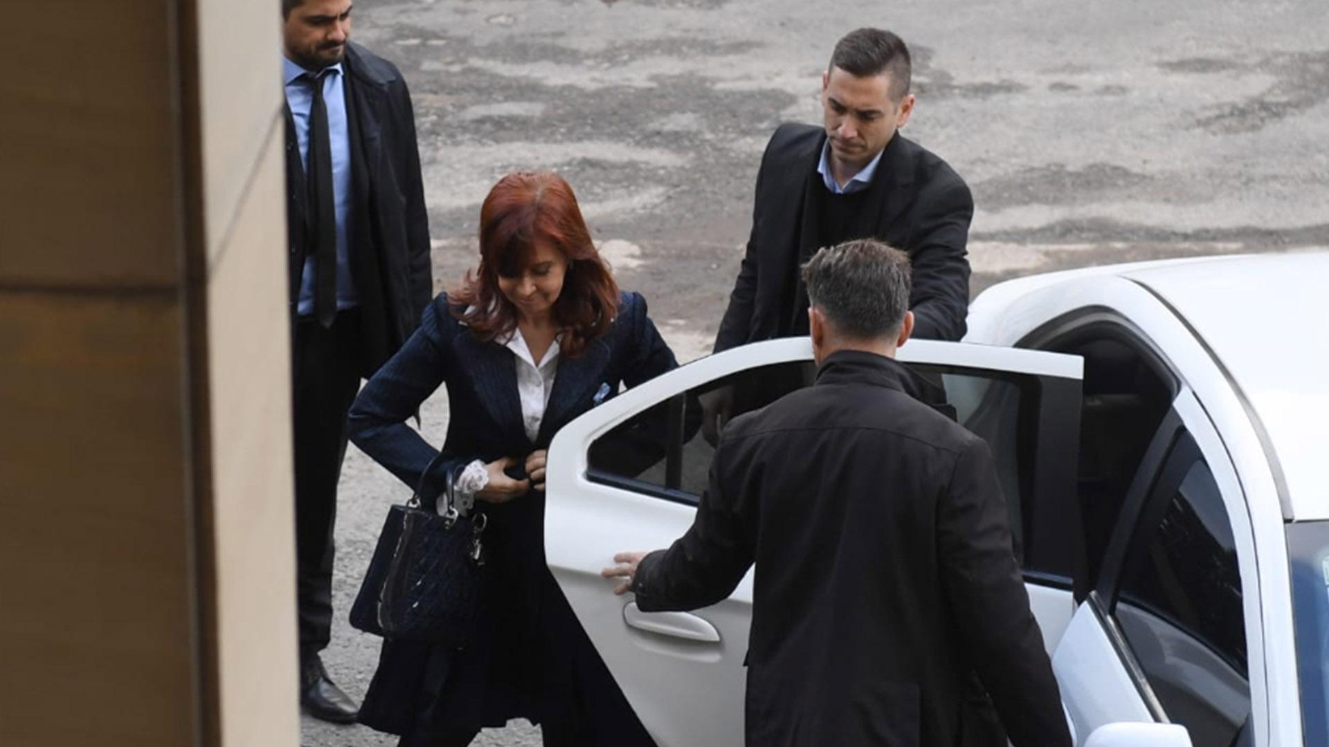 Cristina Kirchner llega a Comodoro Py