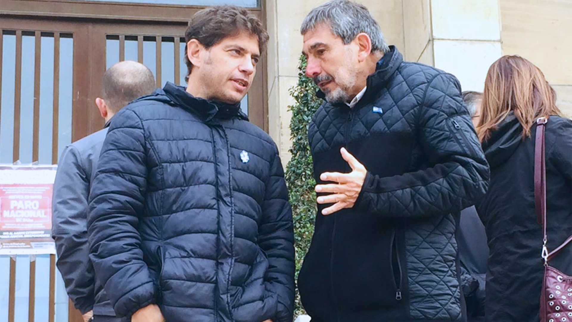 Axel Kicillof junto a Roberto Salvarezza