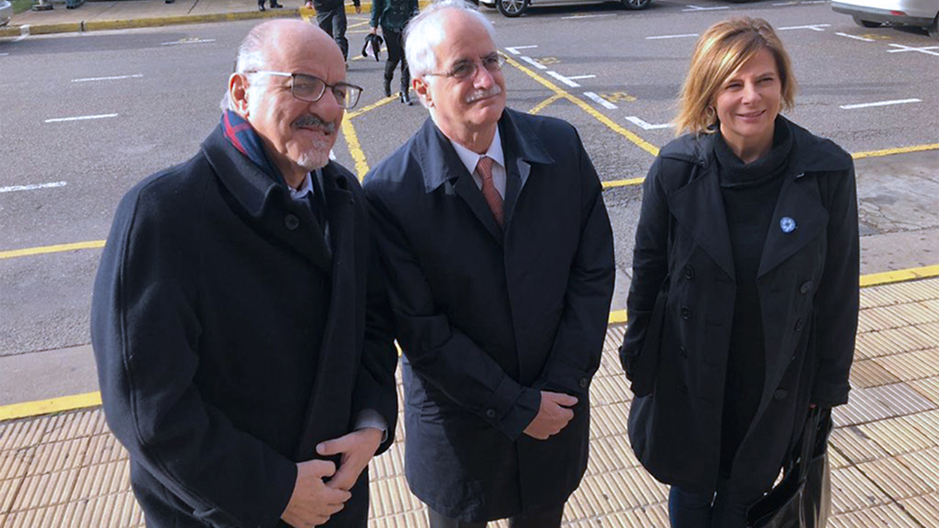 Carlos Tomada, Jorge Taiana y la diputada Florencia Saintout