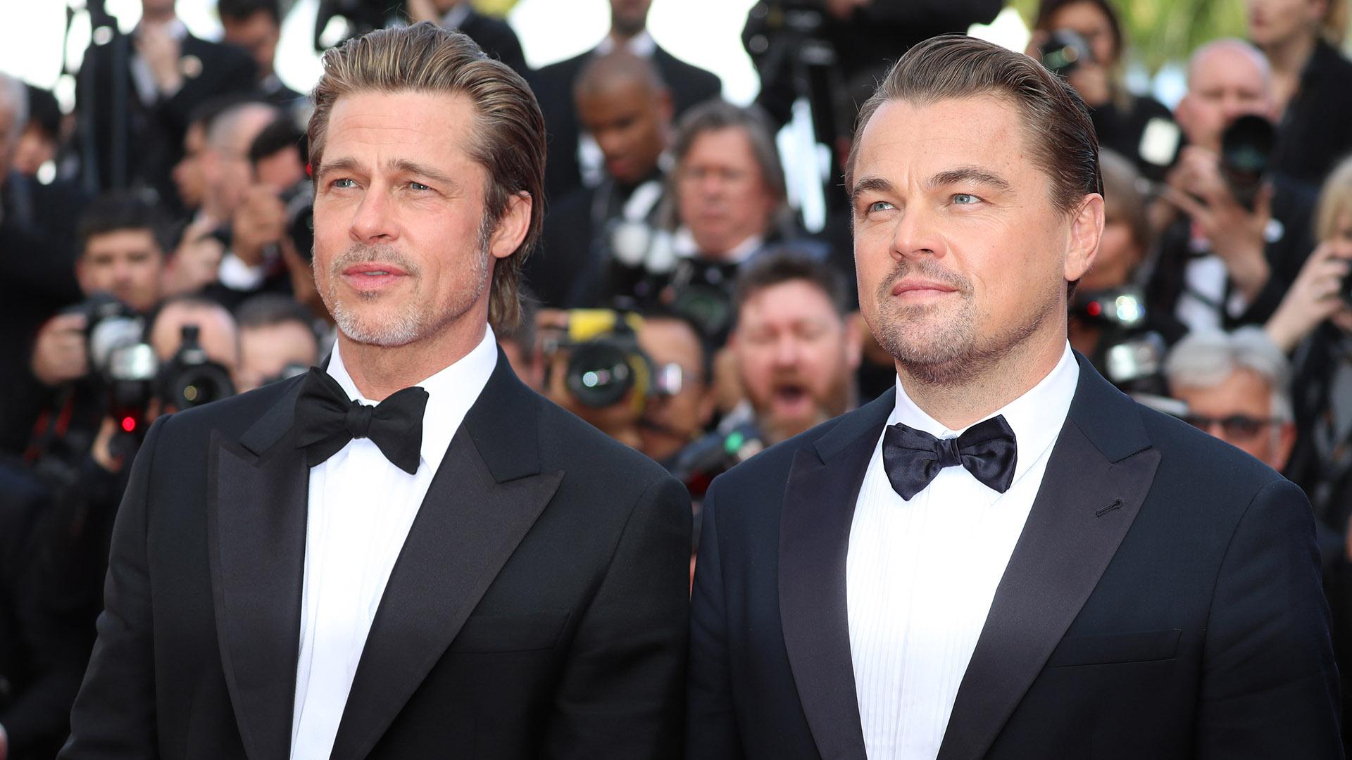 """Brad Pitt y Leonardo DiCaprio asisten a la proyección de """"Once Upon A Time In Hollywood"""" durante el 72º Festival de Cine de Cannes el 21 de mayo de 2019 en Cannes, Francia"""