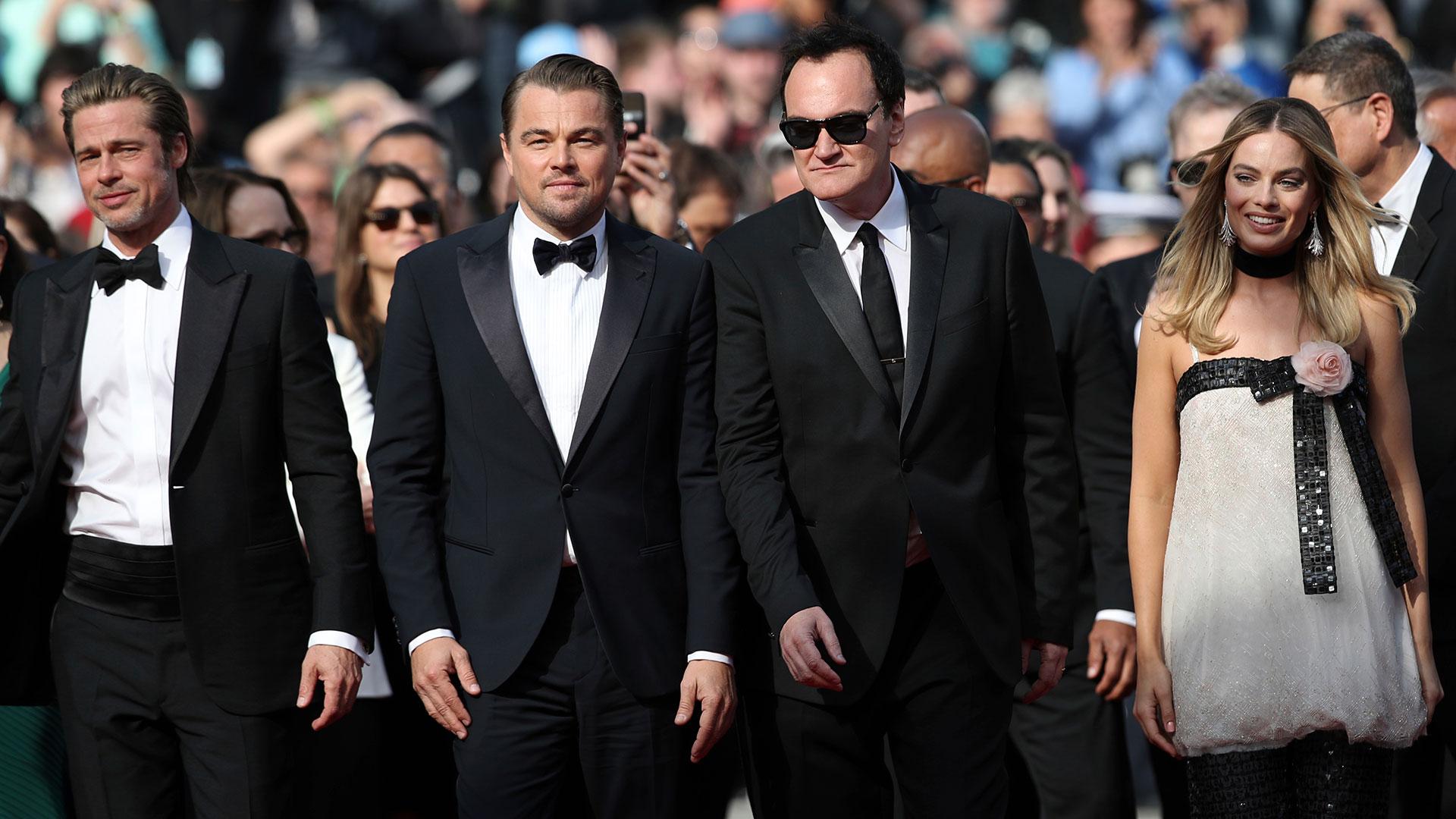 Brad Pitt, Leonardo DiCaprio, Tarantino y Margot Robbie, las estrellas más esperadas en Cannes (AP)