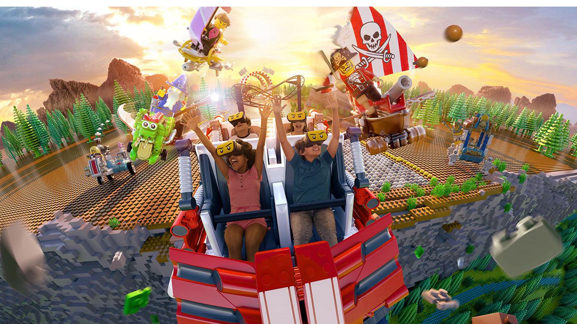 Todo el parque recrea el mundo de Lego con un sinfín de juegos mecánicos y atracciones