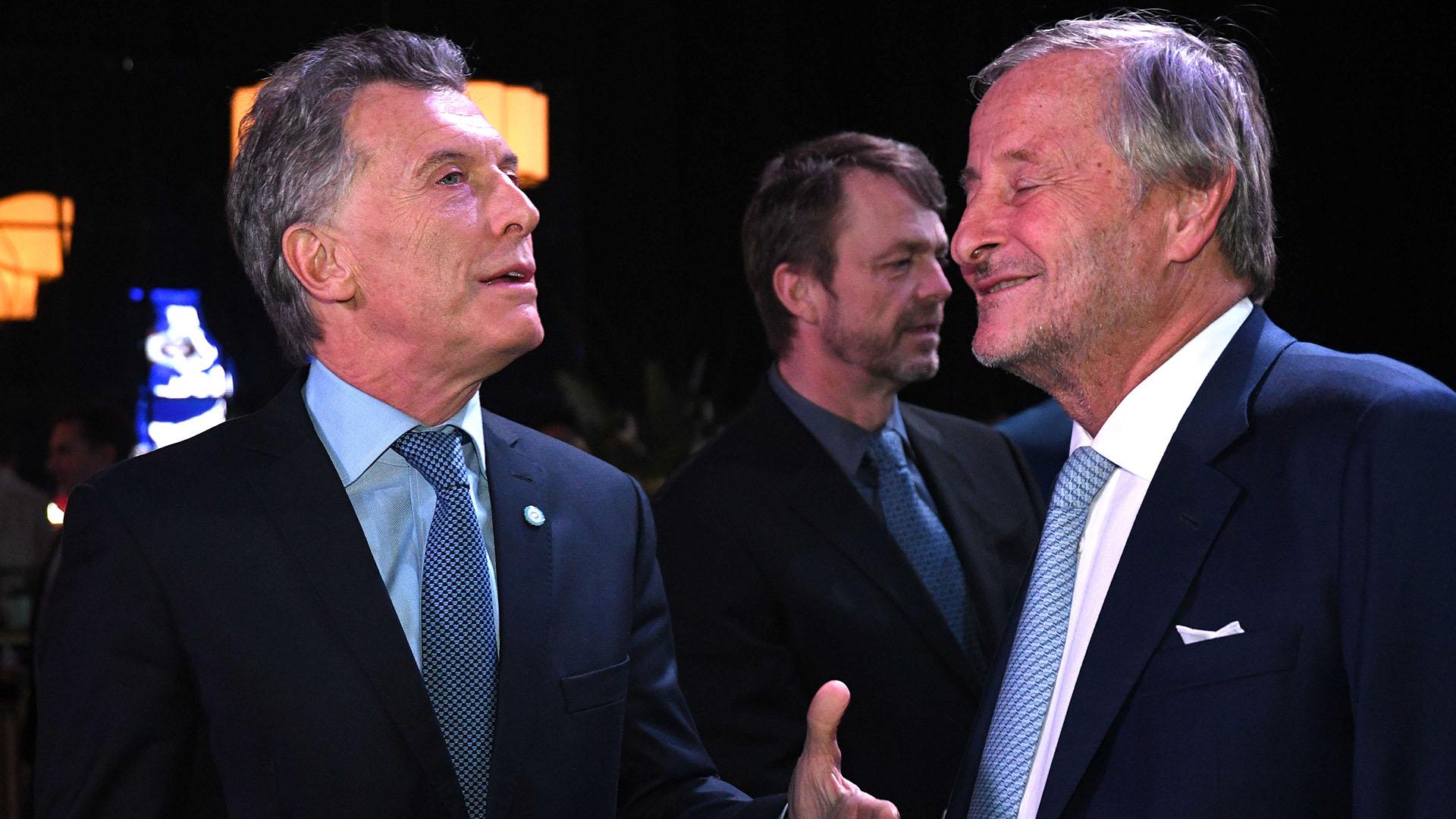Mauricio Macri junto a Cristiano Rattazzi, presidente de Fiat Argentina (foto Télam)