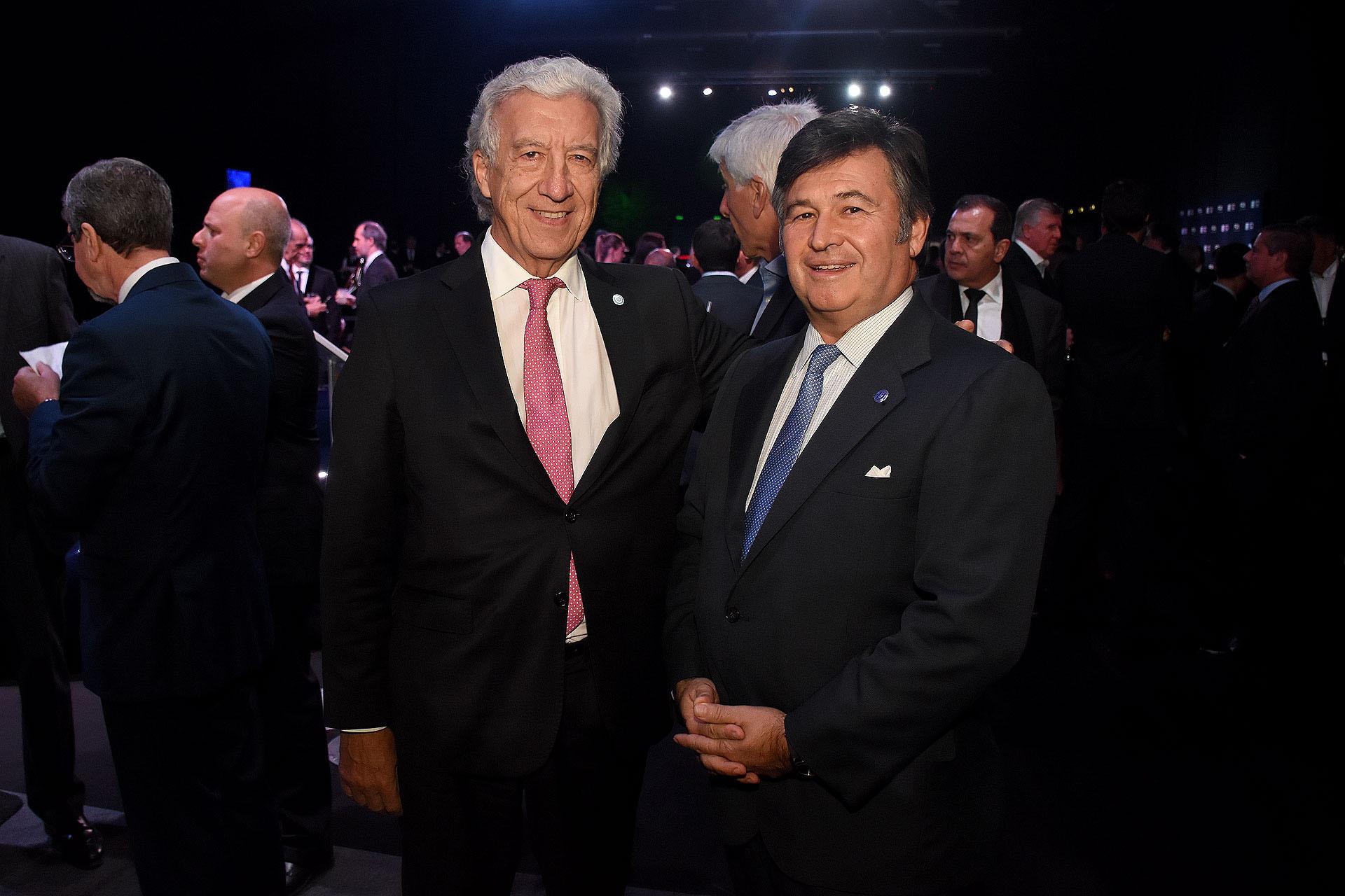 Jaime Campos, presidente de la Asociación Empresaria Argentina, y Daniel Pelegrina