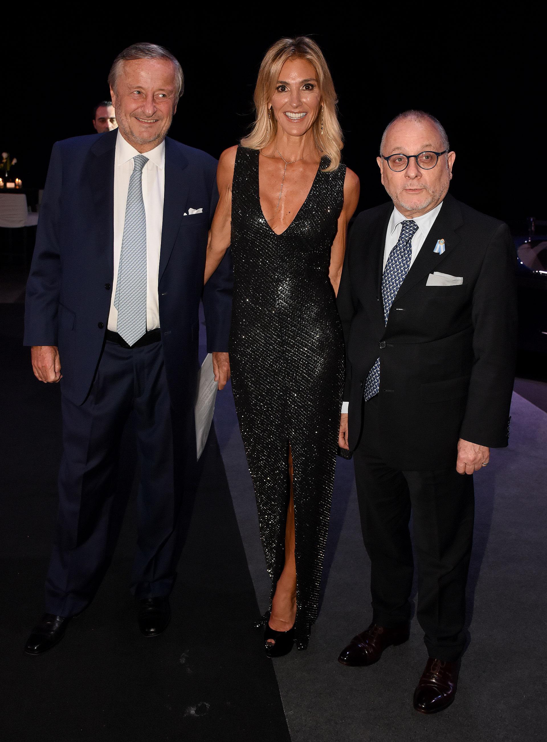 Cristiano Rattazzi, Gabriela Castellani y el Canciller Jorge Faurie