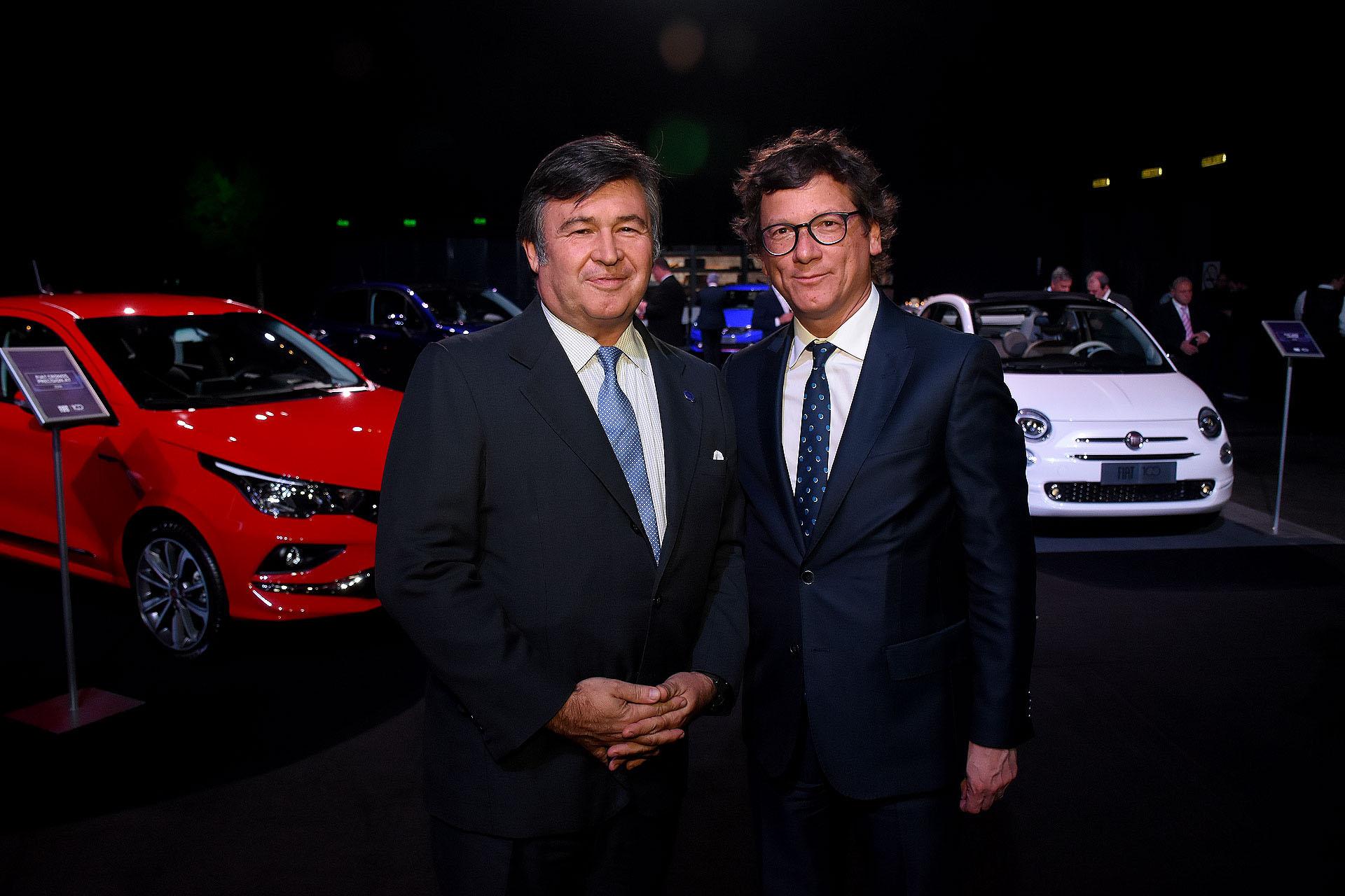 El presidente de la Sociedad Rural Argentina, Daniel Pelegrina, y el presidente de HSBC Argentina, Gabriel Martino
