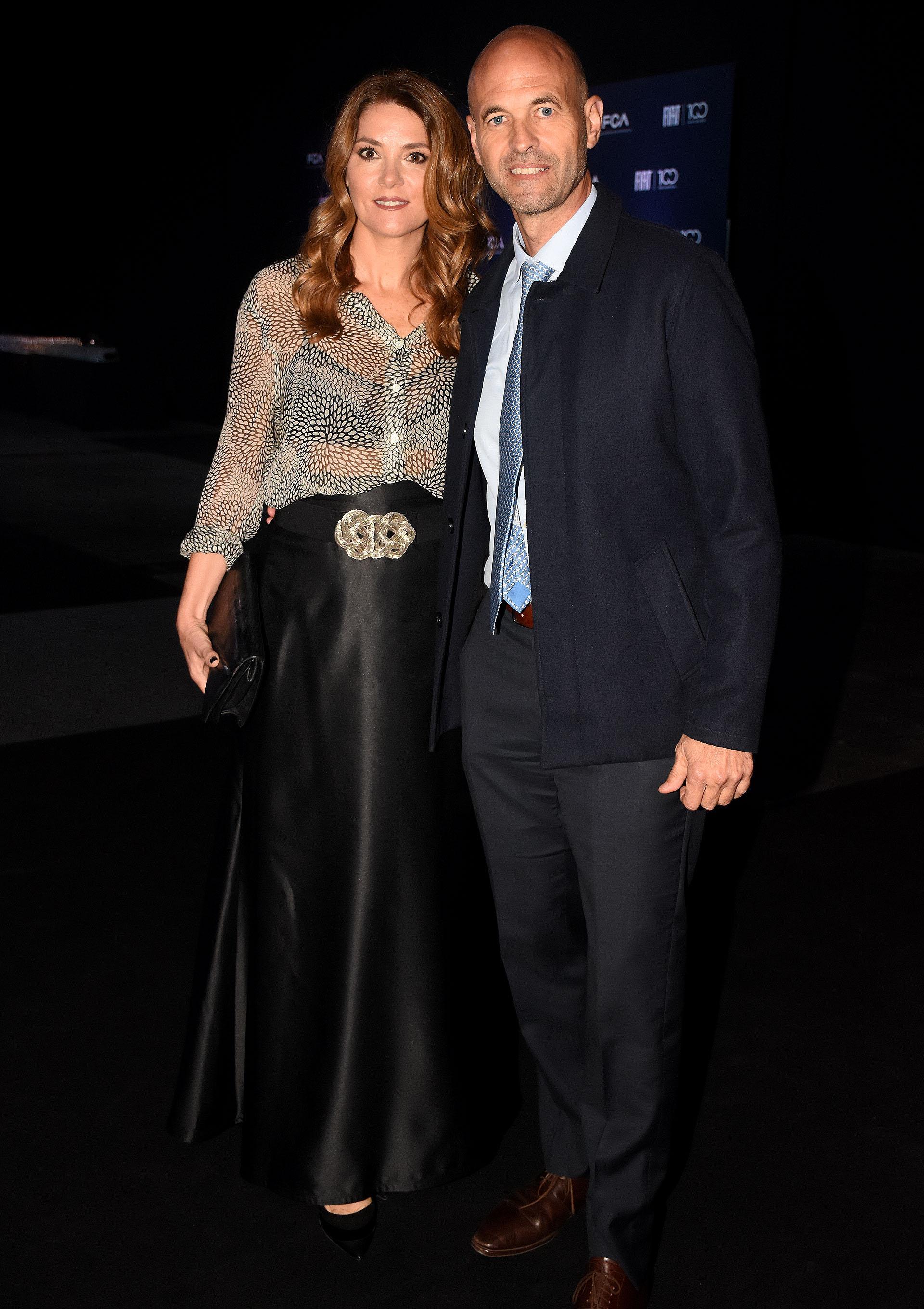 El ministro de Transporte, Guillermo Dietrich, y su mujer Javiera Álvarez Echagüe