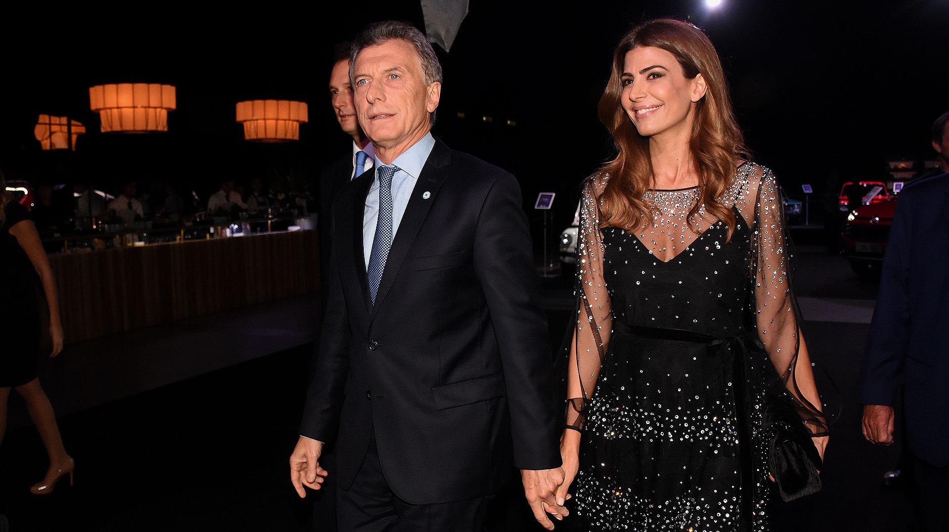Mauricio Macri y Juliana Awada en el gran festejo por los 100 años de Fiat en la Argentina
