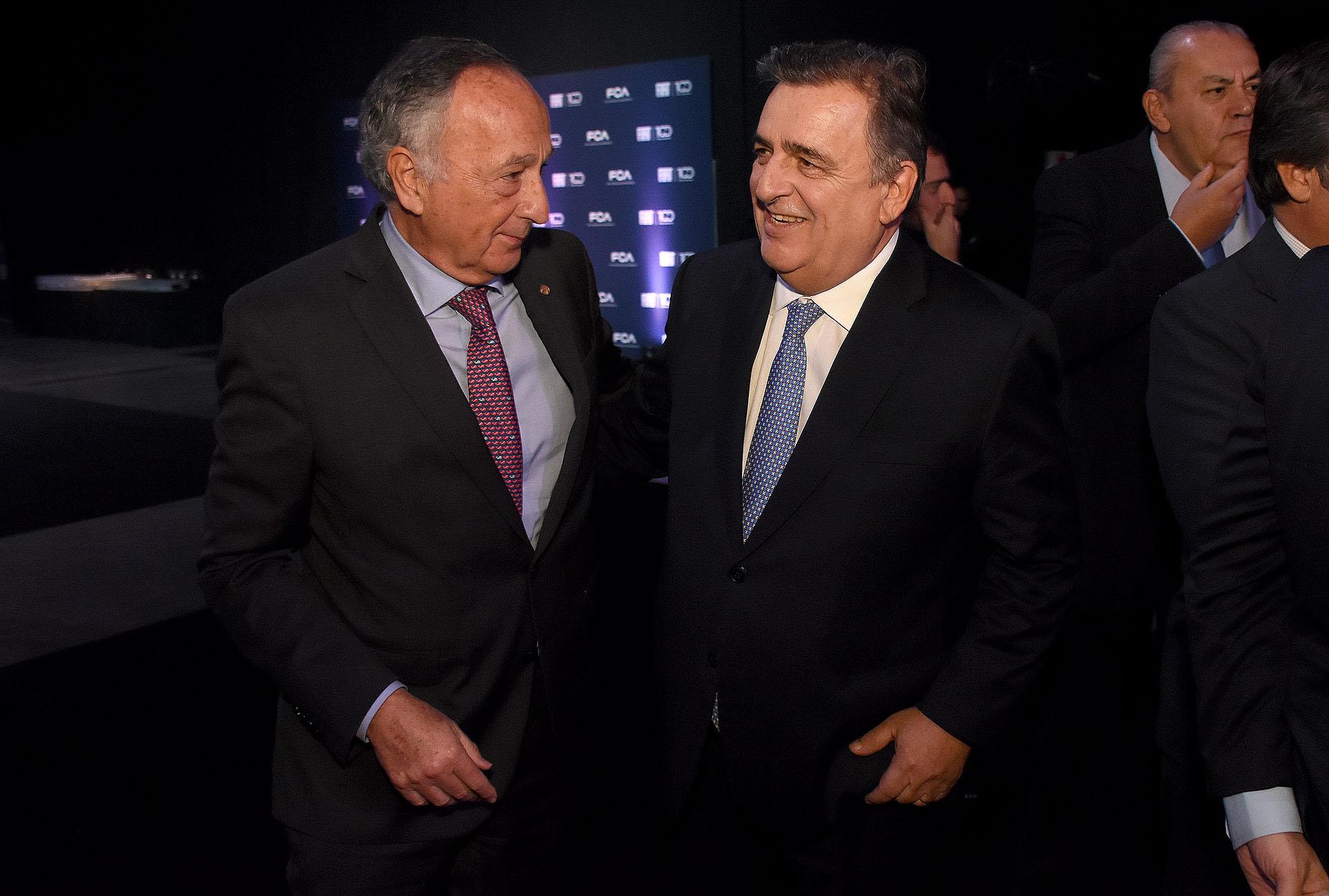 Miguel Acevedo y Mario Negri