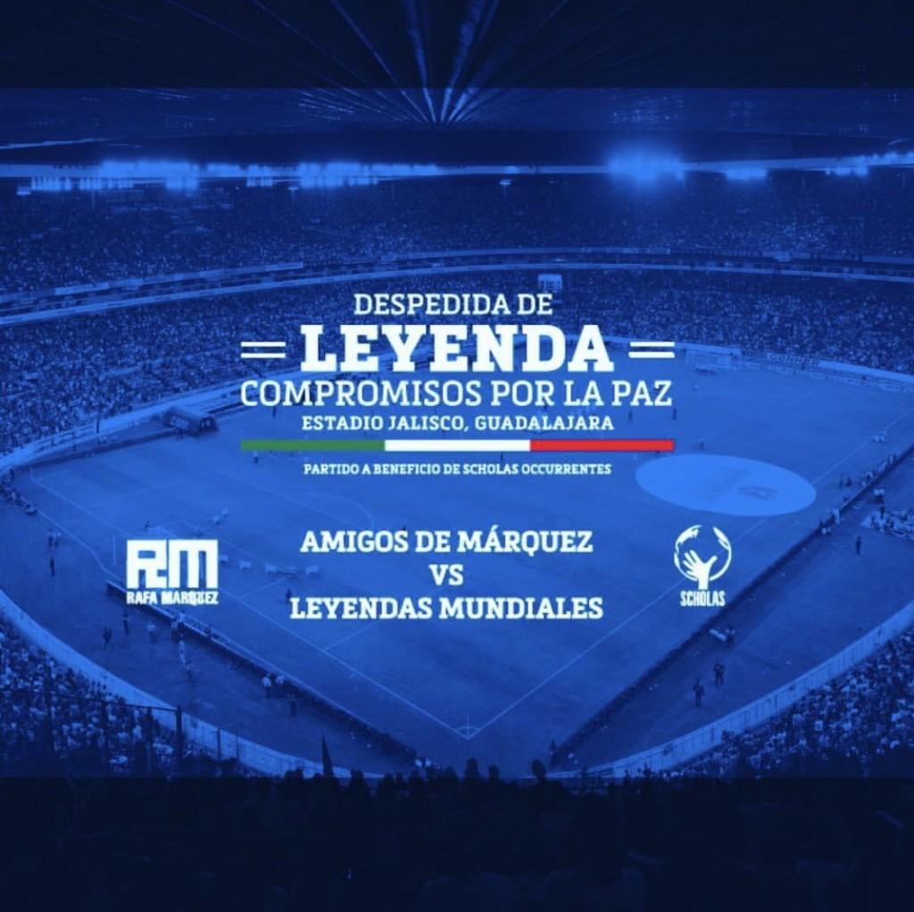 Márquez tendrá su partido de despedida el próximo 8 de junio en el Estadio jalisco (Twitter @RafaMarquezMX)