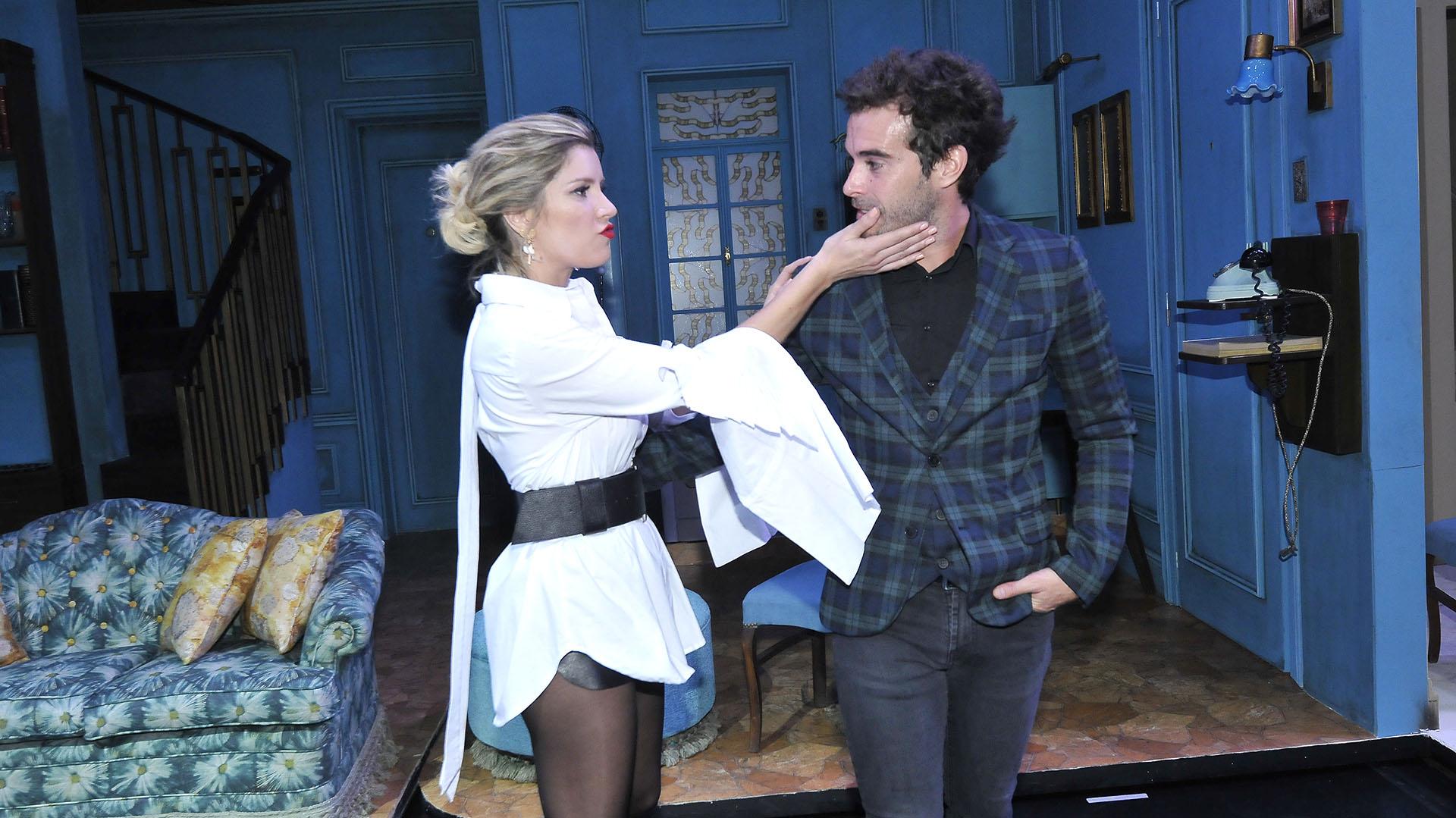 """Laurita Fernández y Nico Cabré protagonizan la obra """"Departamento de soltero"""". La pareja ya había trabajado en el musical """"Sugar"""" (Crédito: Verónica Guerman / Teleshow)"""