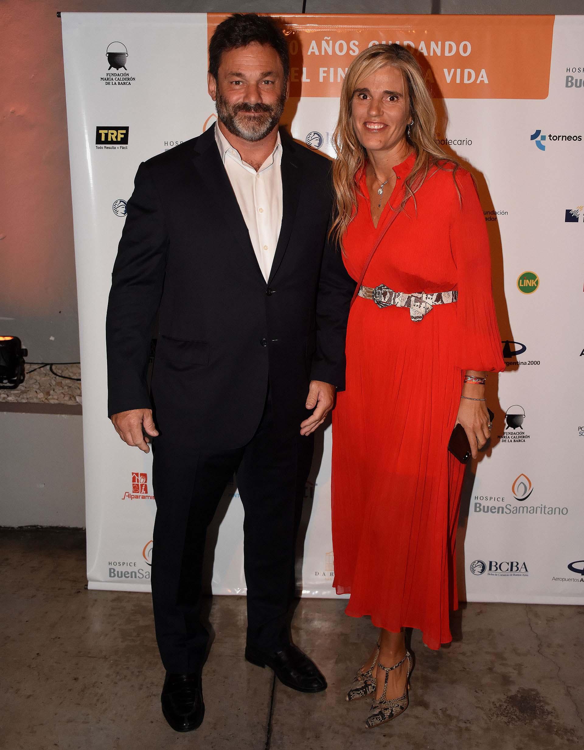 El empresario Christian Oppel y Pachi Dibetto (desarrollo institucional)