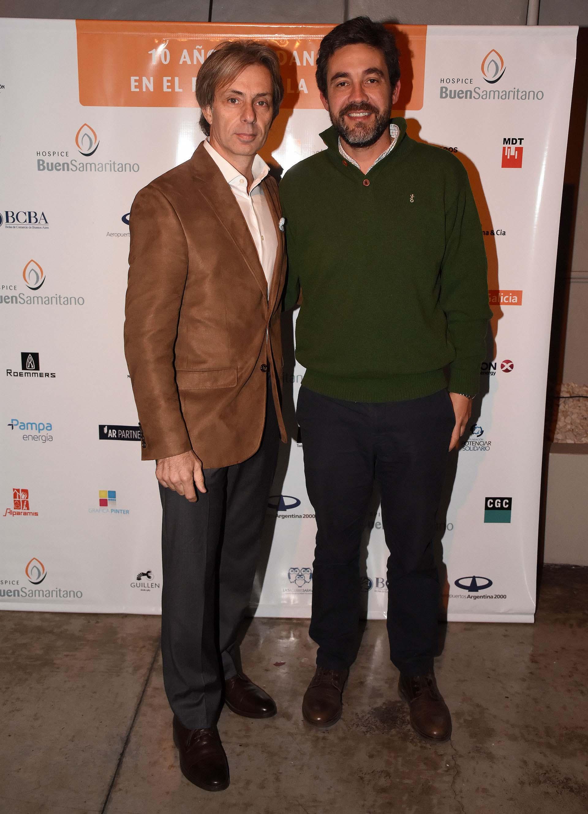 Juan Manuel Llapur y Alberto Willi, director ejecutivo del MBA de IAE