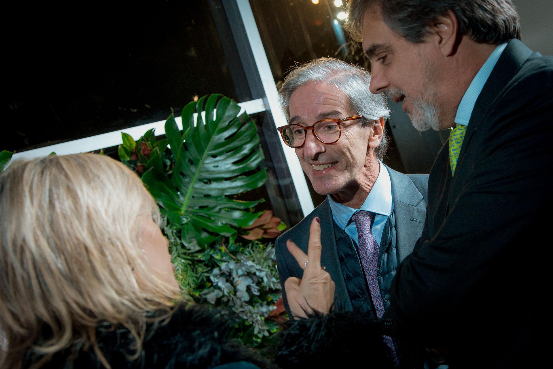 Fernando Iudica, director médico del Hospital Universitario Austral, y el empresario Raúl Morales, presidente de iFlow