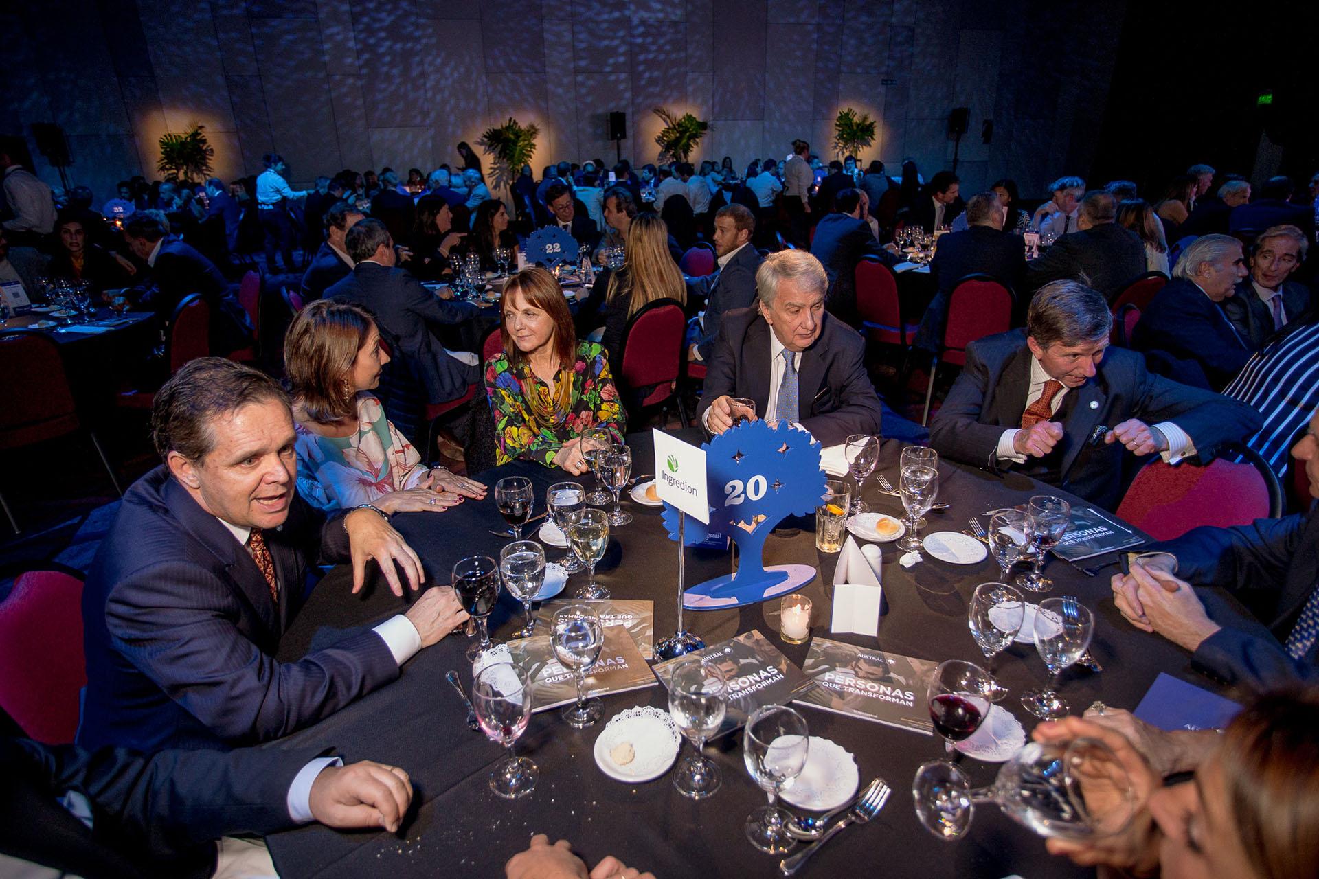 Los empresarios Pablo Plá, presidente de Ingredion, y Teddy Franck, ex Techint, fueron integrantes del comité de Desarrollo Institucional que llevó adelante la segunda Cena Austral