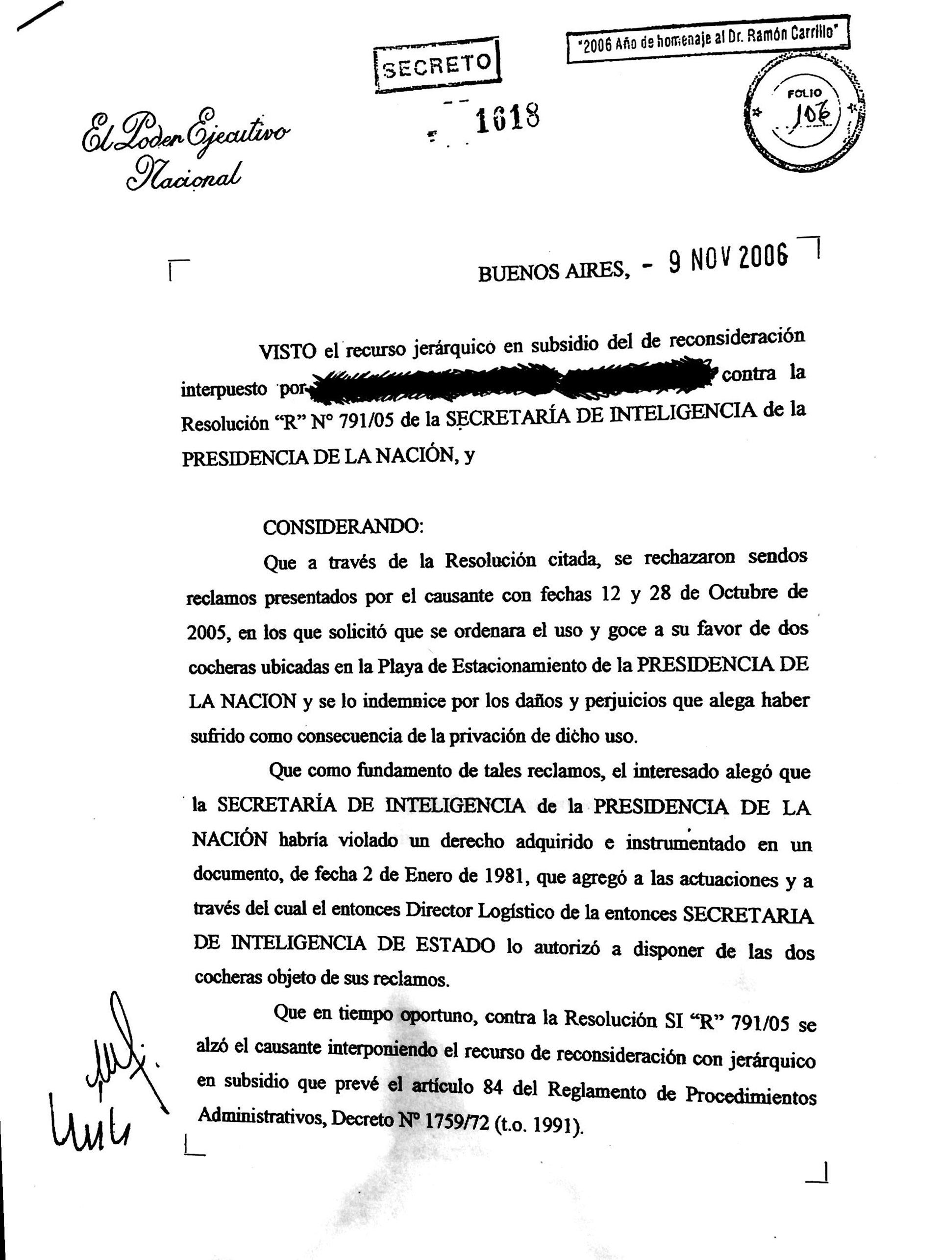 Decretos Secretos en Democracia