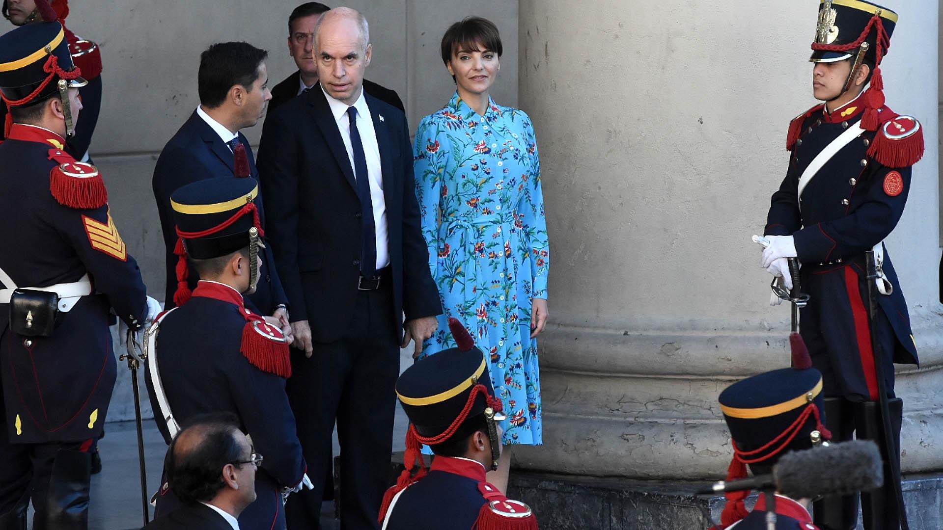 El Jefe de Gobierno, Horacio Rodríguez Larreta, junto a su mujer Bárbara Diez