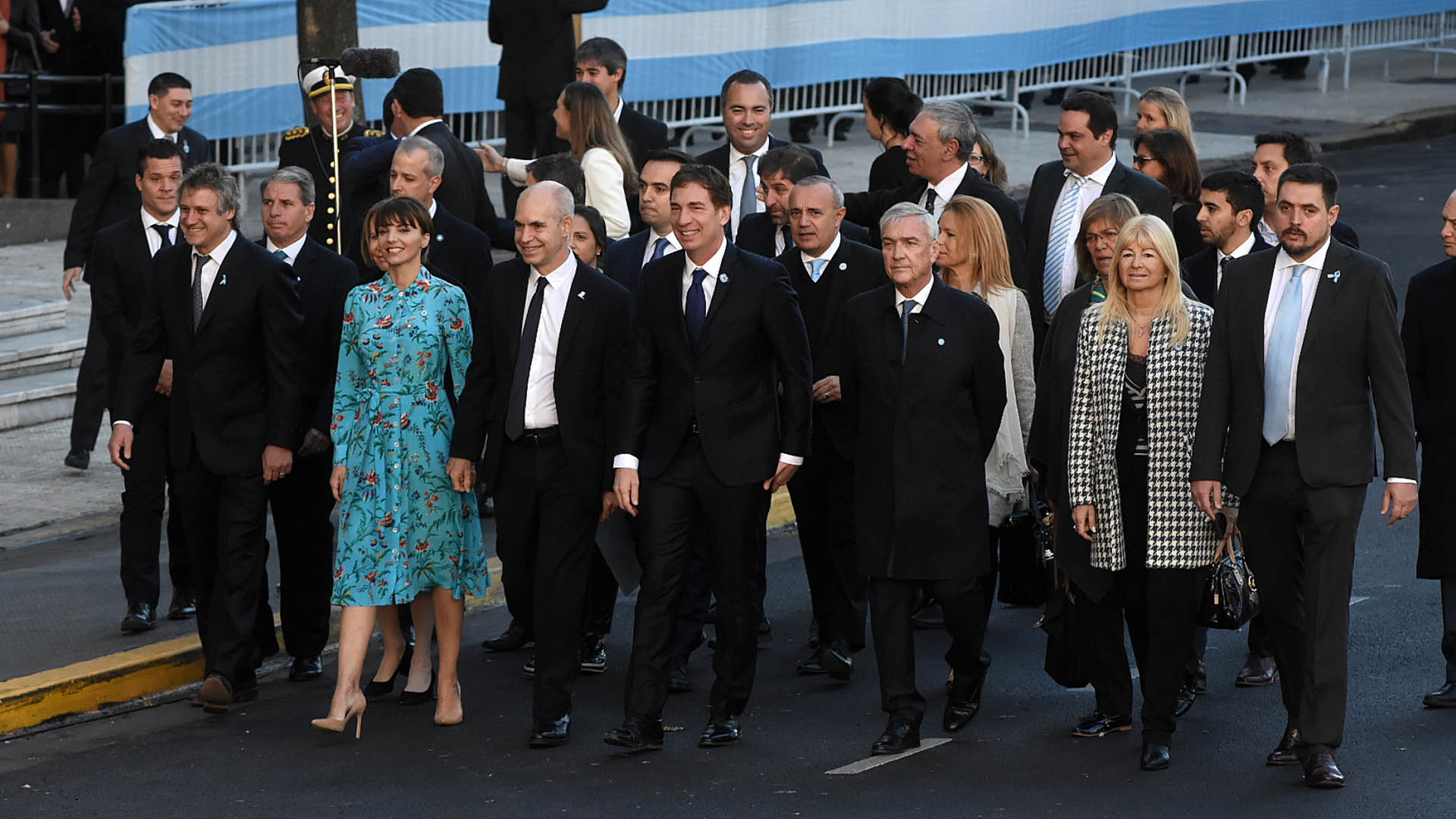 El Jefe de Gobierno porteño, Horacio Rodríguez Larreta, y el vicejefe, Diego Santilli, también estuvieron en el Tedeum por el 25 de Mayo