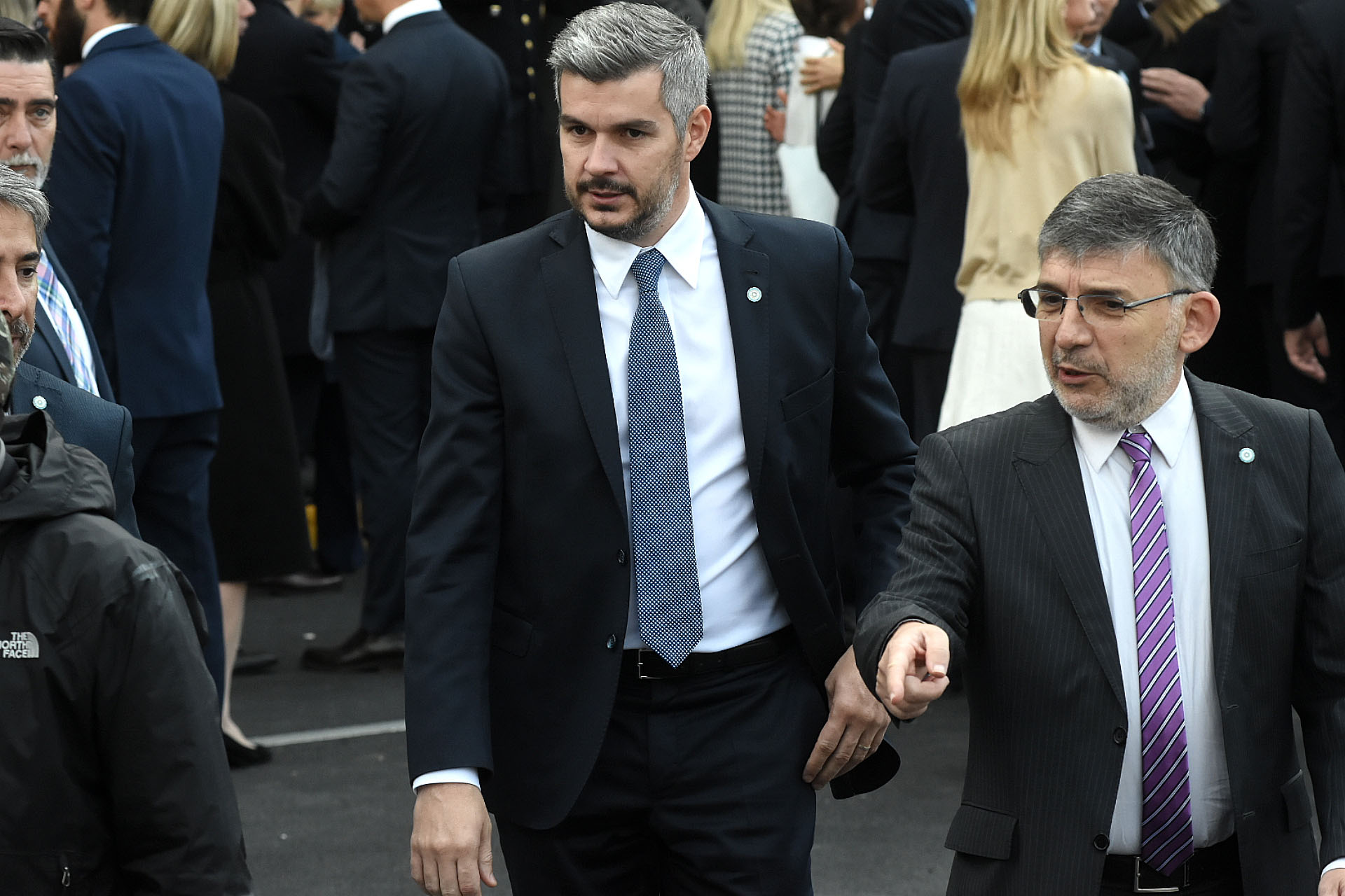 El Jefe de Gabinete, Marcos Peña, antes de ingresar a la Catedral Metropolitana