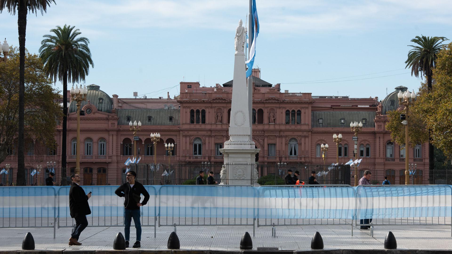 La Casa Rosada estuvo vallada durante la celebración