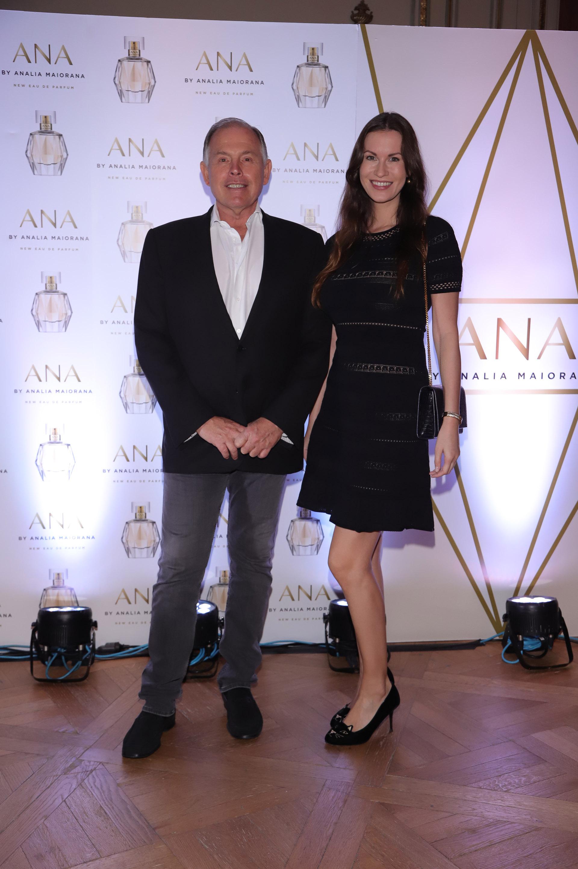 El empresario Gerardo Werthein y Nina Francisca