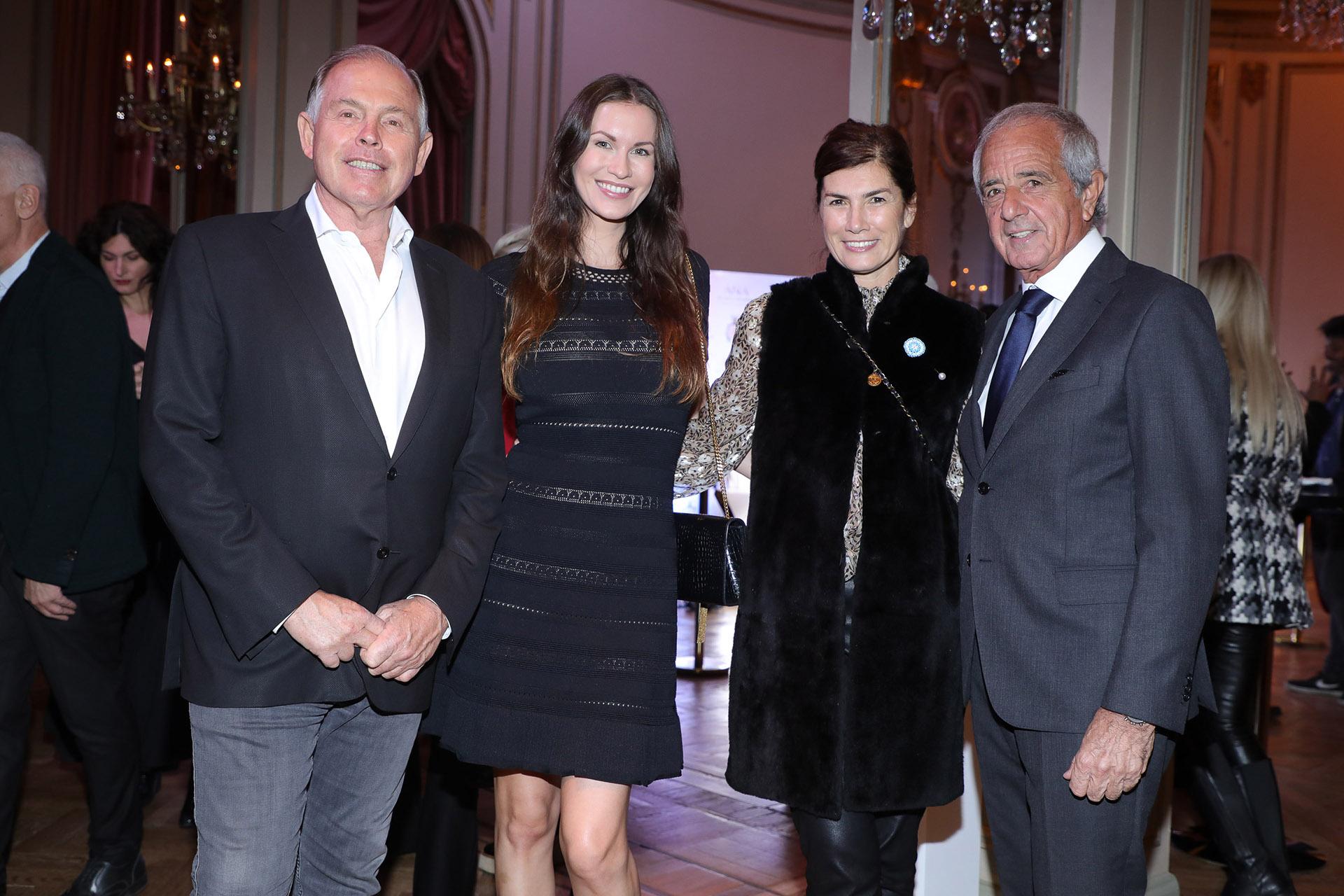 Gerardo Werthein, Nina Francisca, Marina Lafuente y Rodolfo D'Onofrio