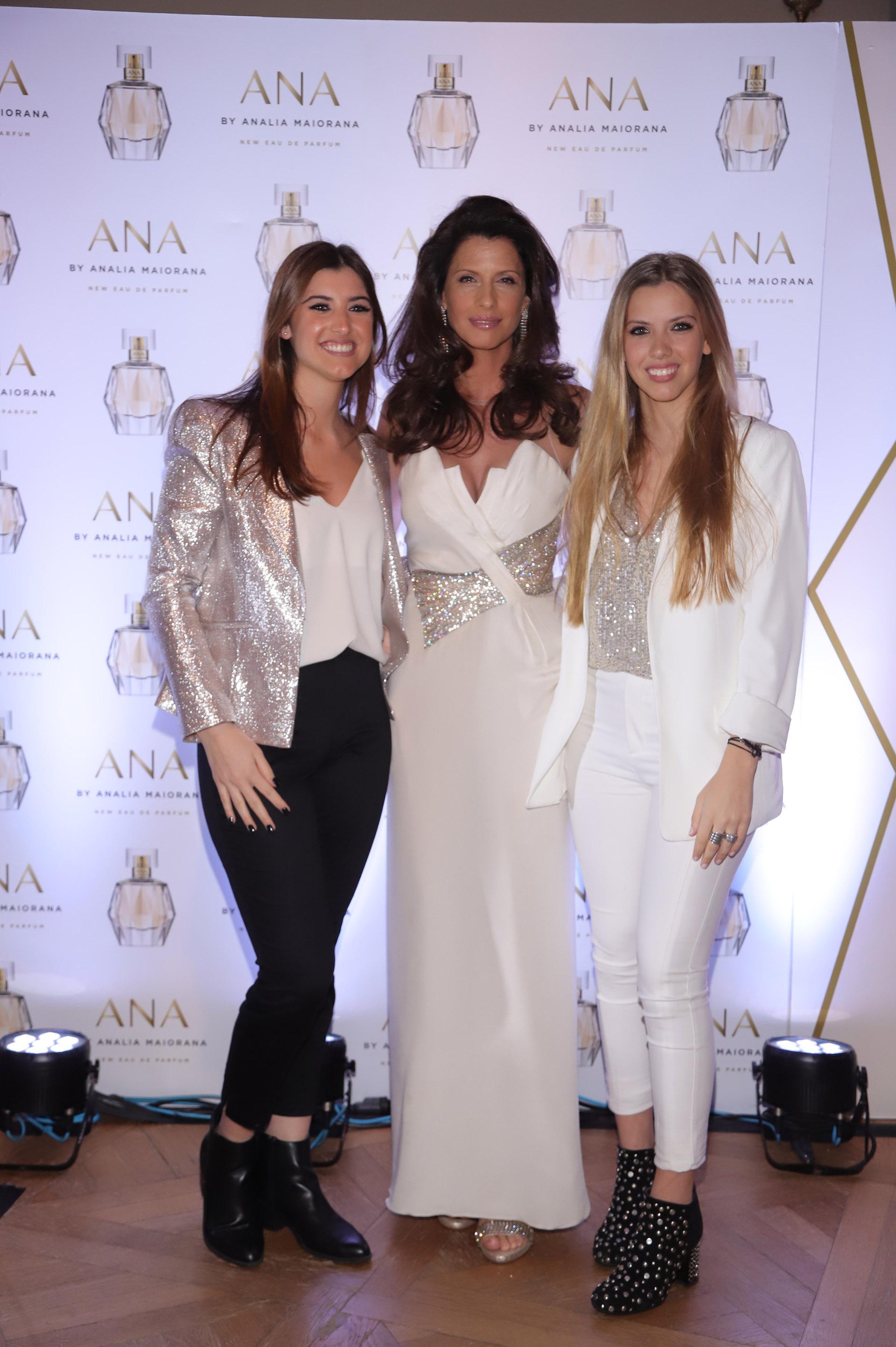 Analía Maiorana con sus hijas Lola y Malena Terra