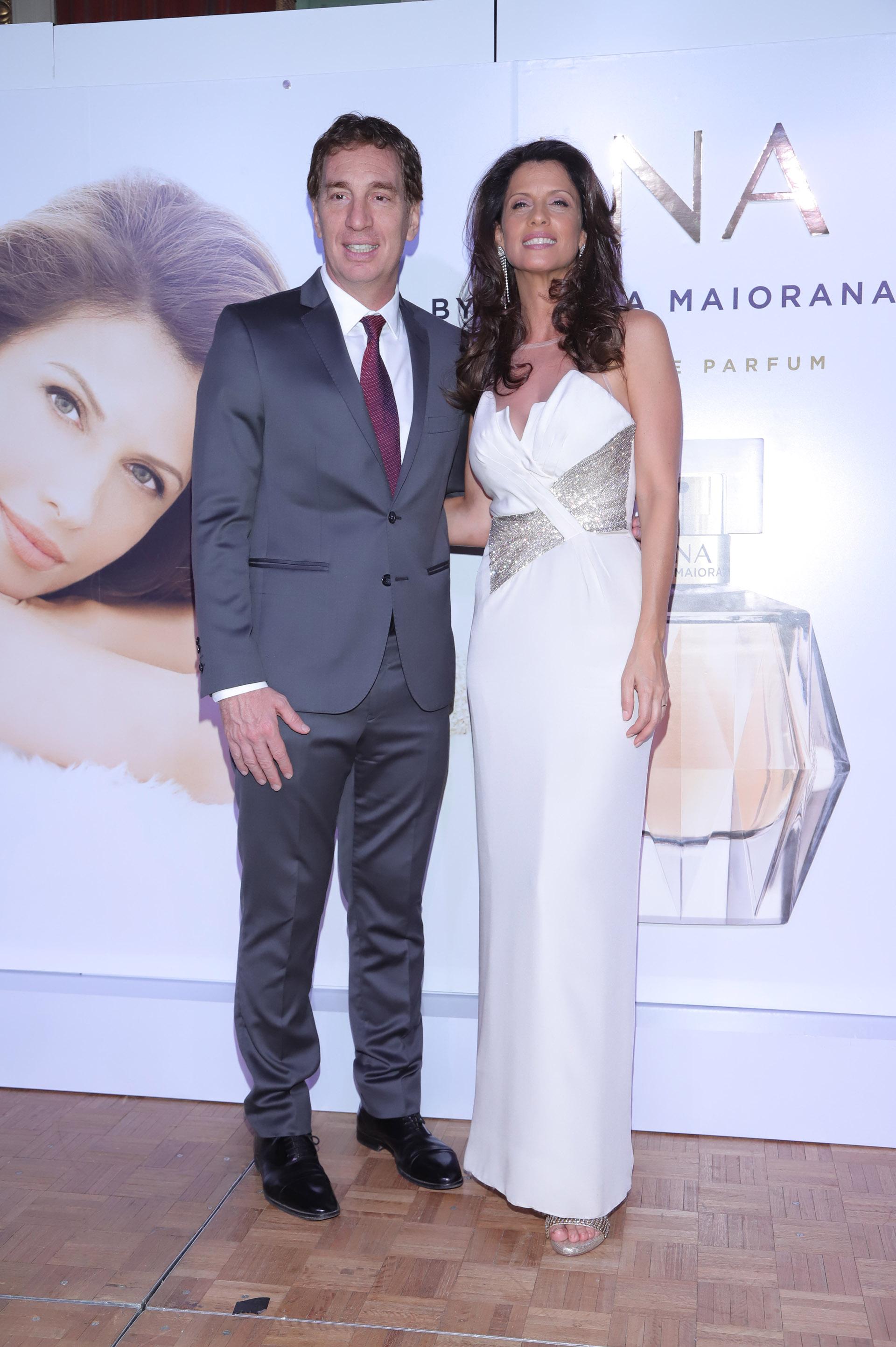 """Analía Maiorana y su marido, Diego Diego Santilli, durante la gran presentación de """"Ana"""", que se llevó a cabo en el marco de un selecto cóctel en el Alvear Palace Hotel"""