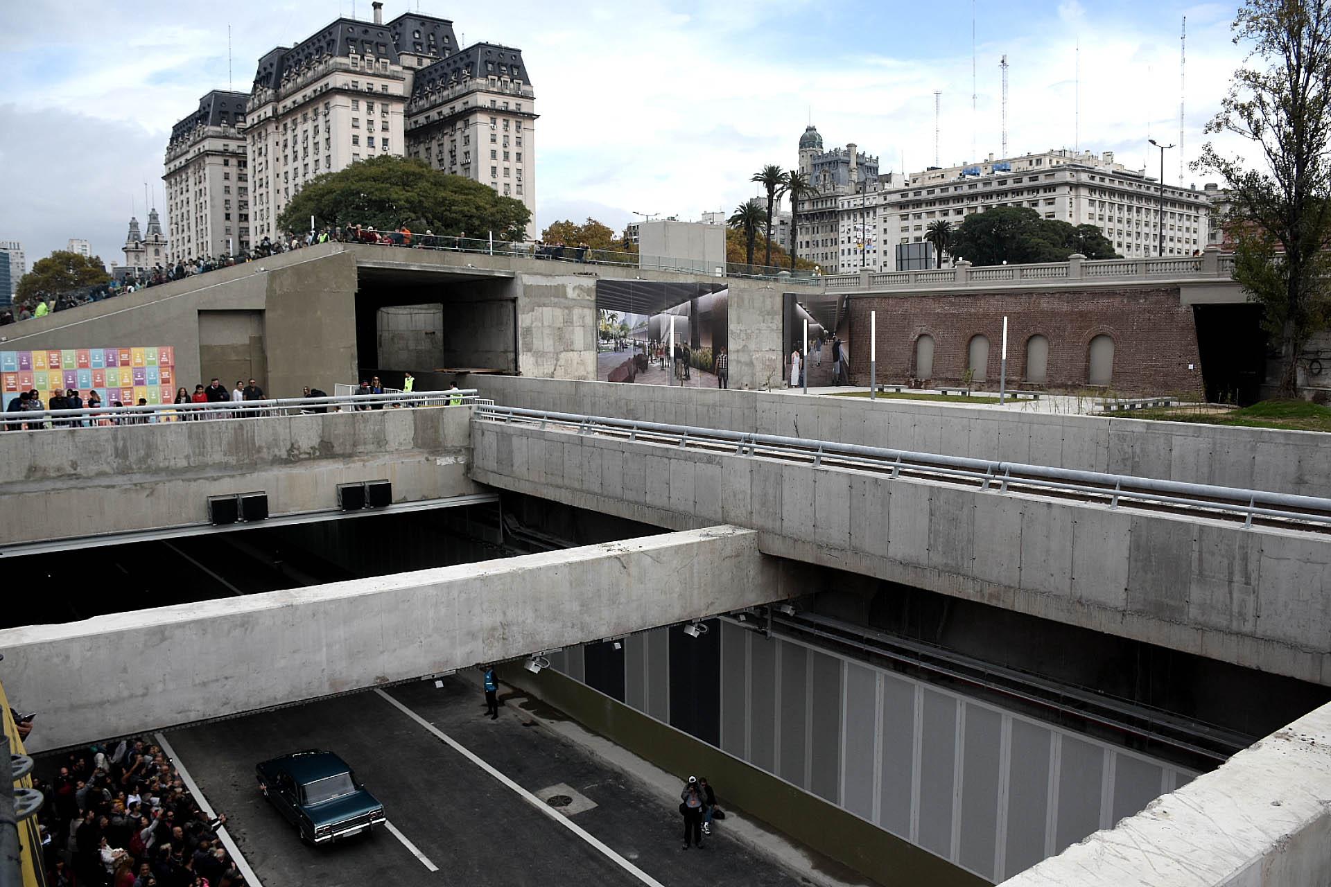 Ala altura de Puerto Madero camiones y colectivos de larga distancia circularán bajo tierra