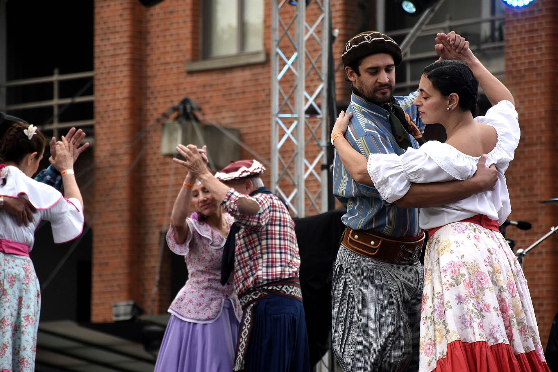 El festival trajo tradiciones del Norte, Litoral, Centro, Cuyo y Patagonia