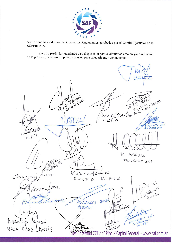 carta que Superliga a la AFA (5)