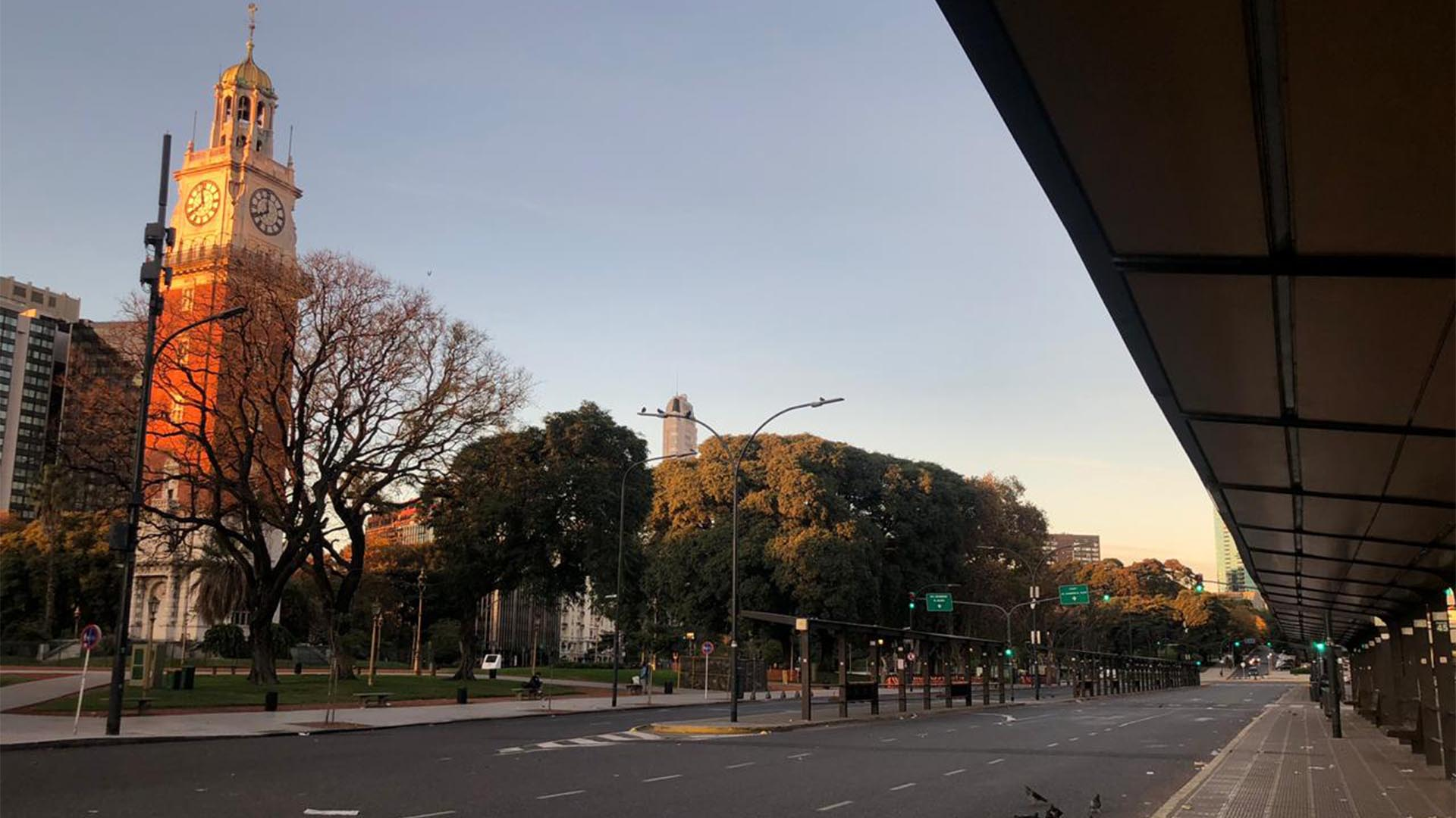 El paro general anunciado por la CGT ya muestra las calles con poco tránsito