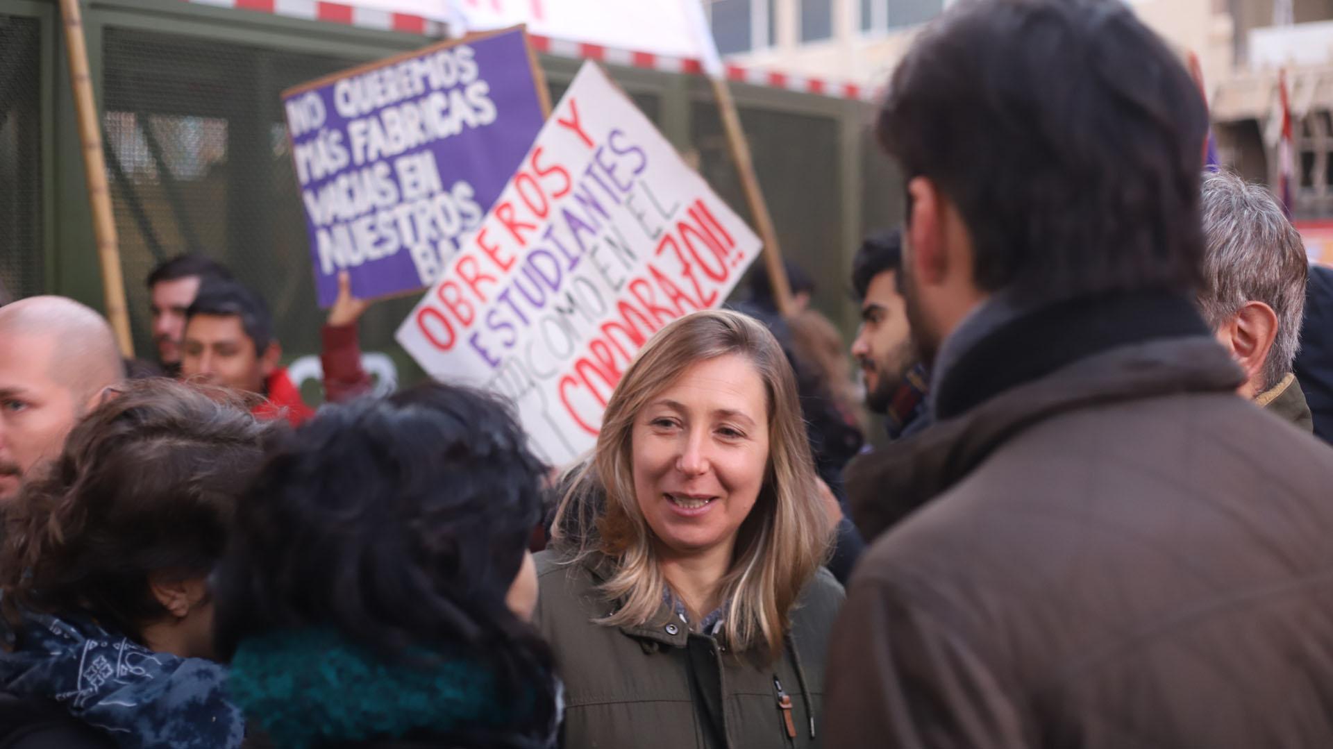 La diputada porteña del PTS en el Frente de Izquierda, Myriam Bregman