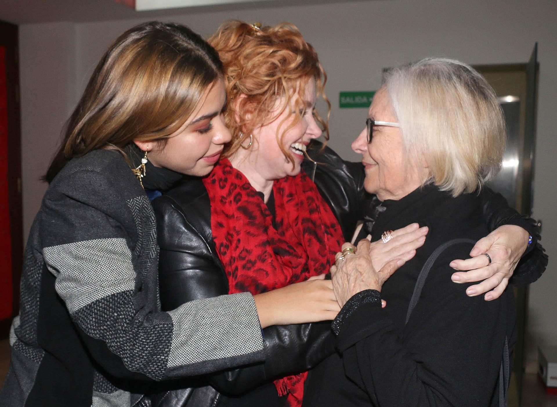 Las tres generaciones: Ana María, Andrea del Boca y Anna Chiara