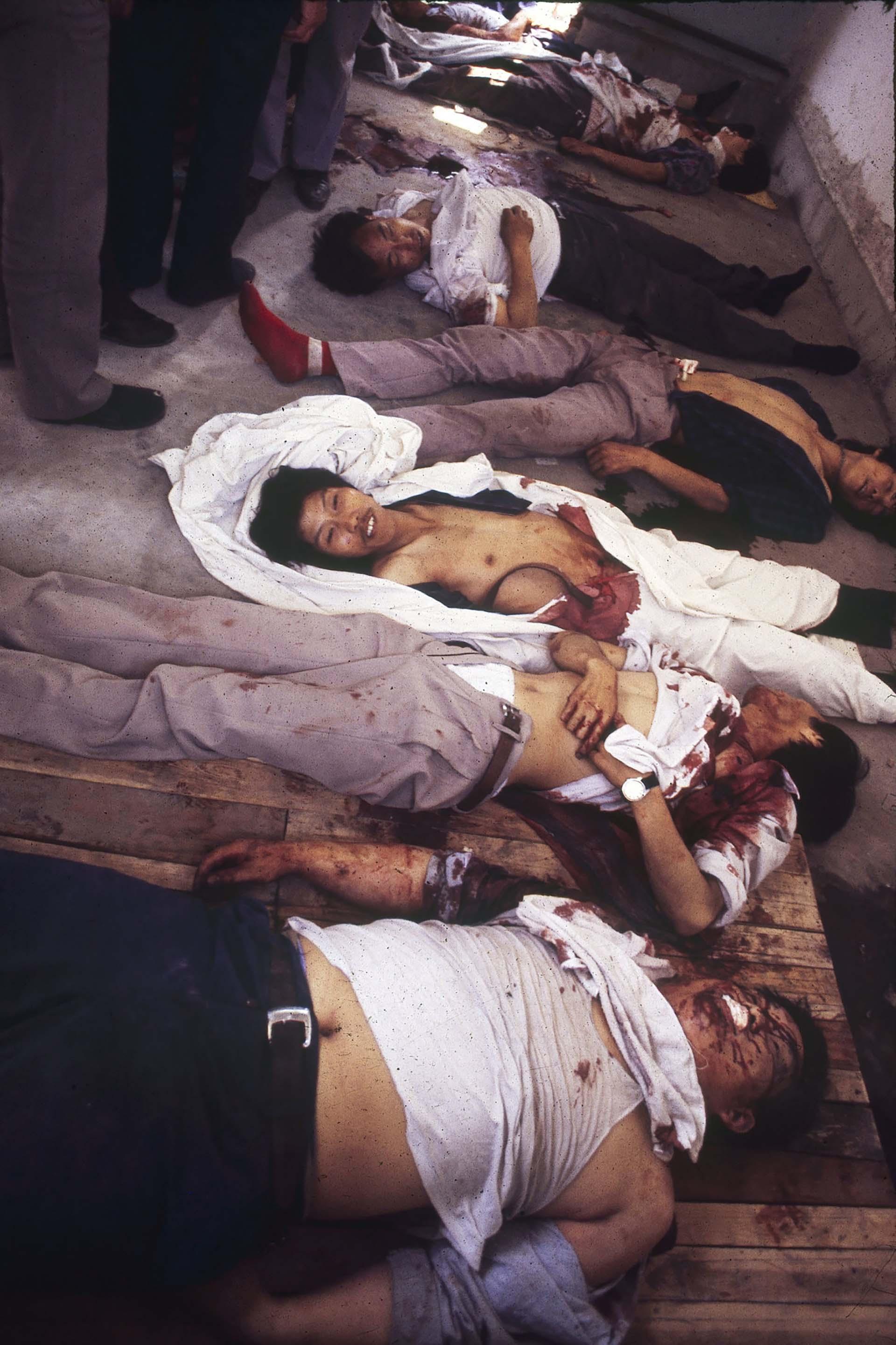 Víctimas de la feroz represión en Tiananmen (Jian Liu)