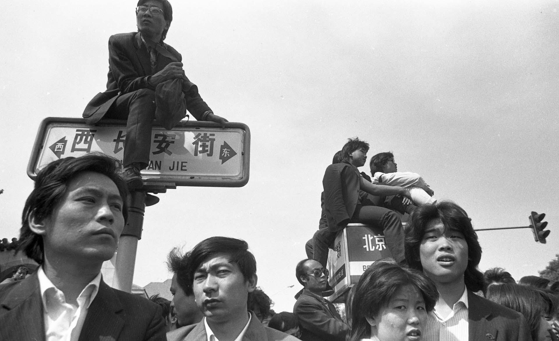 Los jóvenes estudiantes fueron los protagonistas de las protestas en Tiananmen (Jian Liu)
