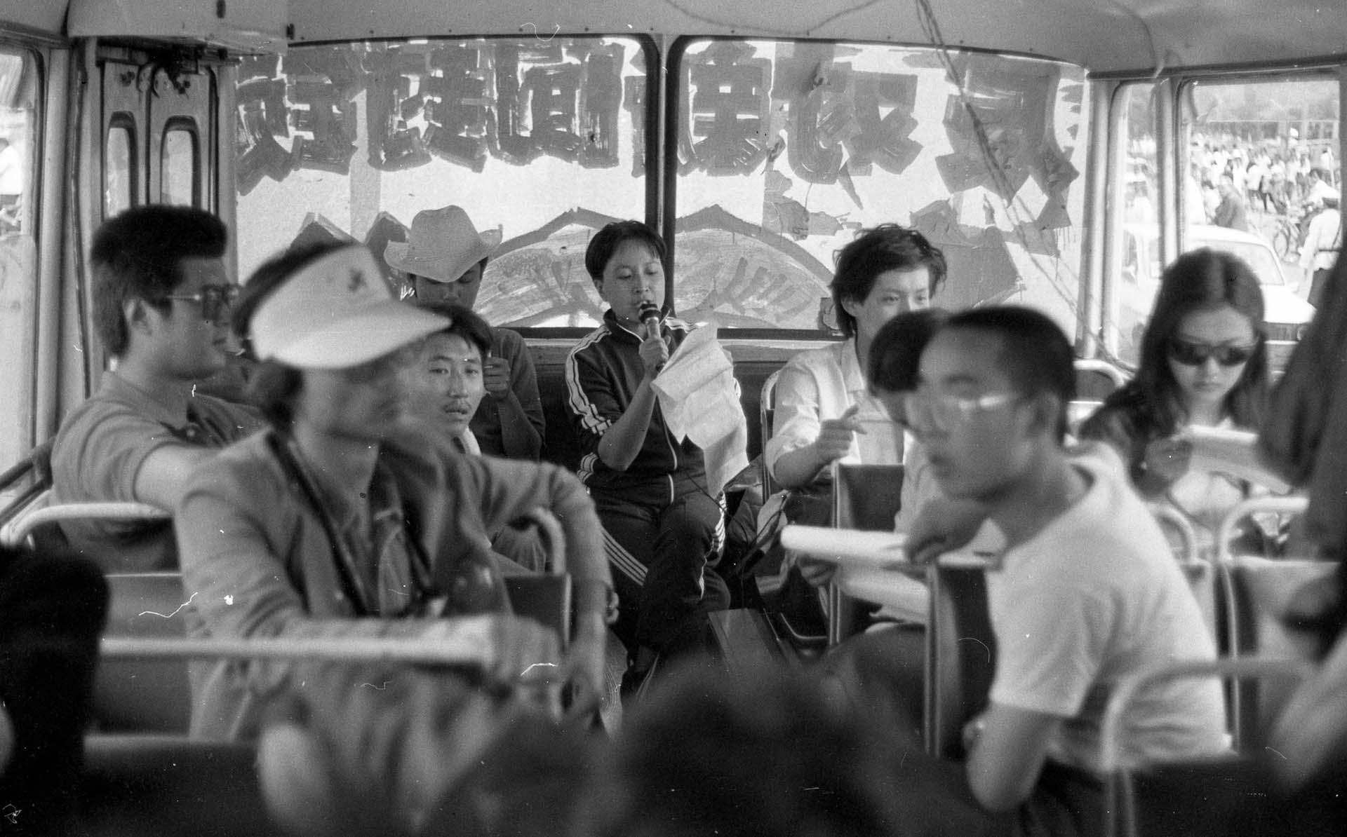 Fotografías de las protestas tomadas en 1989 previo a la represión de Tiananmen (Jian Liu)